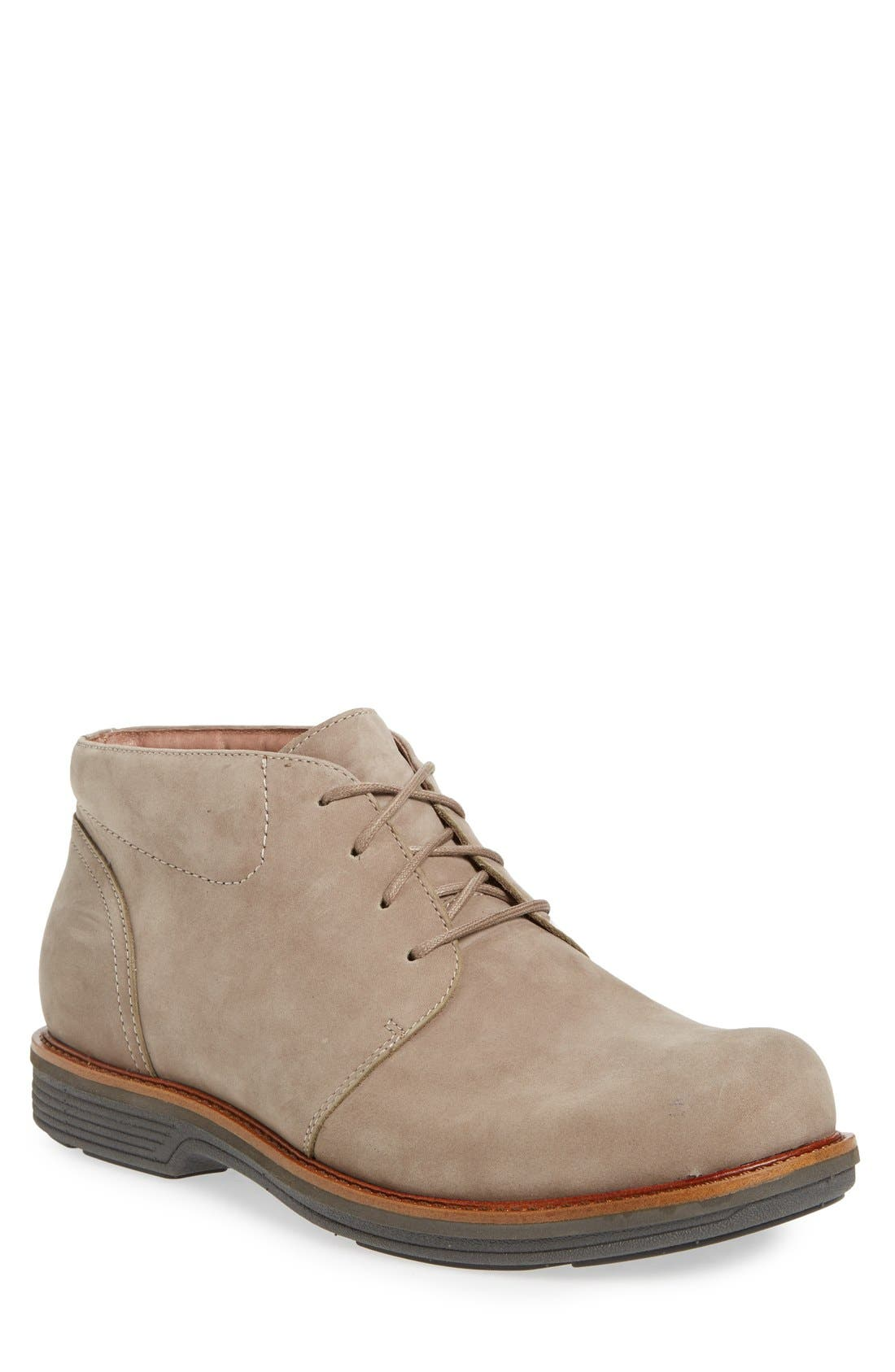 'Jake' Chukka Boot,                             Main thumbnail 1, color,                             Taupe Milled Nubuck Leather