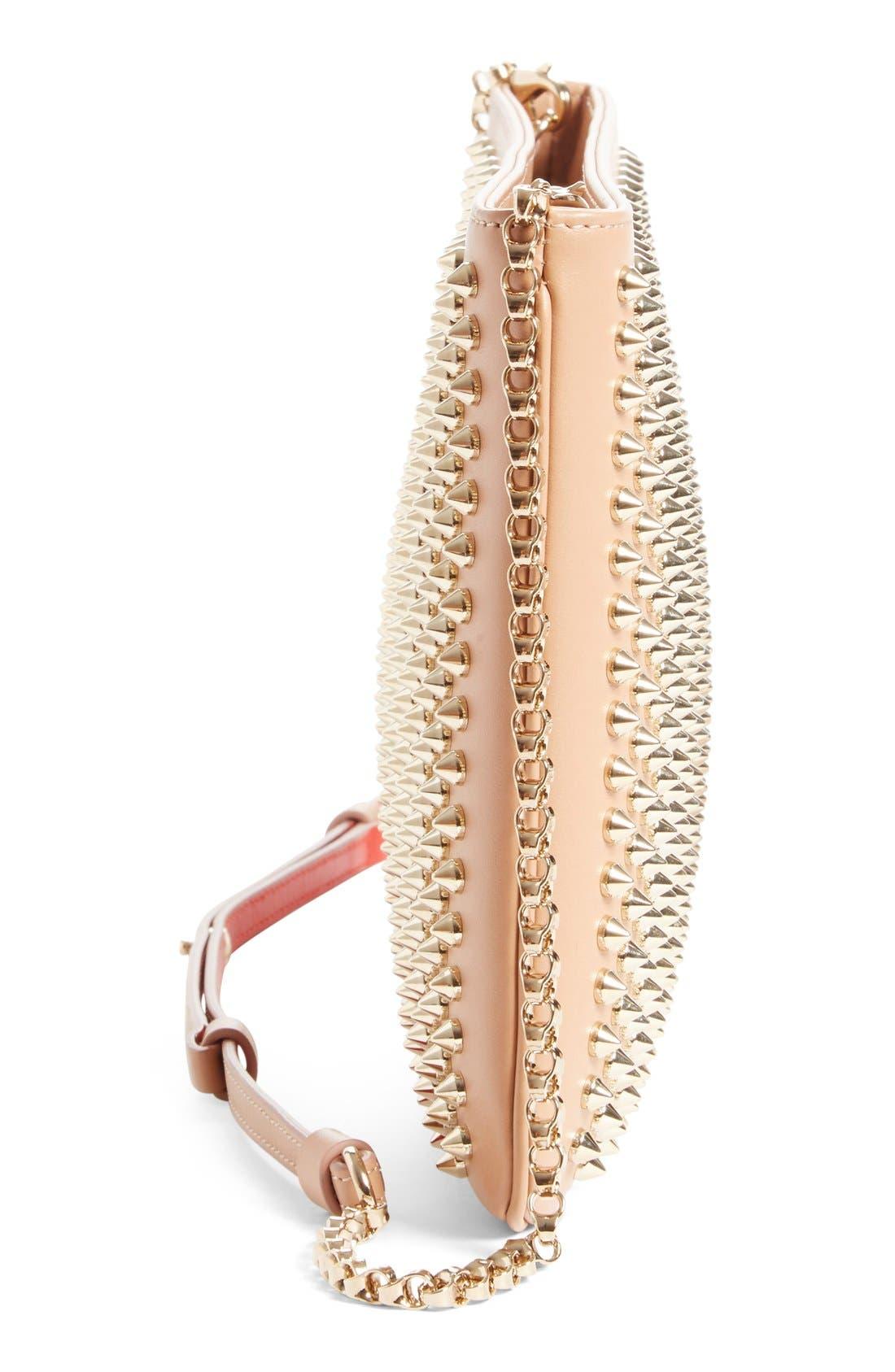 Alternate Image 4  - Christian Louboutin 'Loubiposh' Spiked Calfskin Shoulder Bag