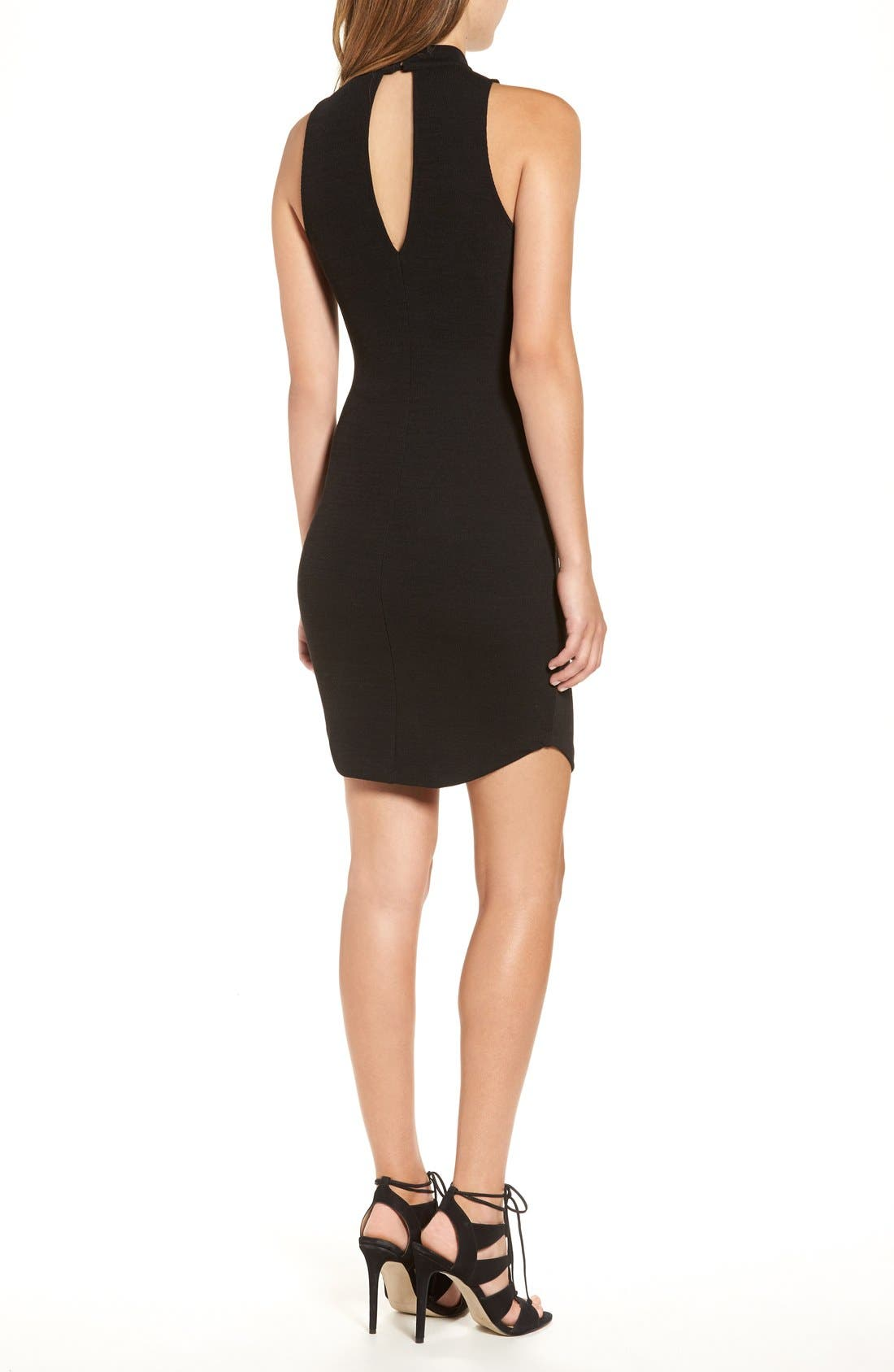 Alternate Image 2  - ASTR Cutout Knit Body-Con Dress
