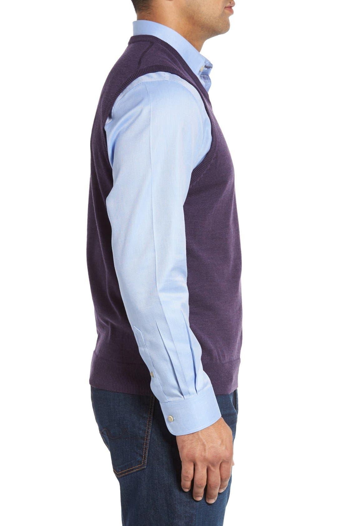 Alternate Image 3  - Cutter & Buck 'Douglas' Merino Wool Blend V-Neck Sweater Vest (Online Only)