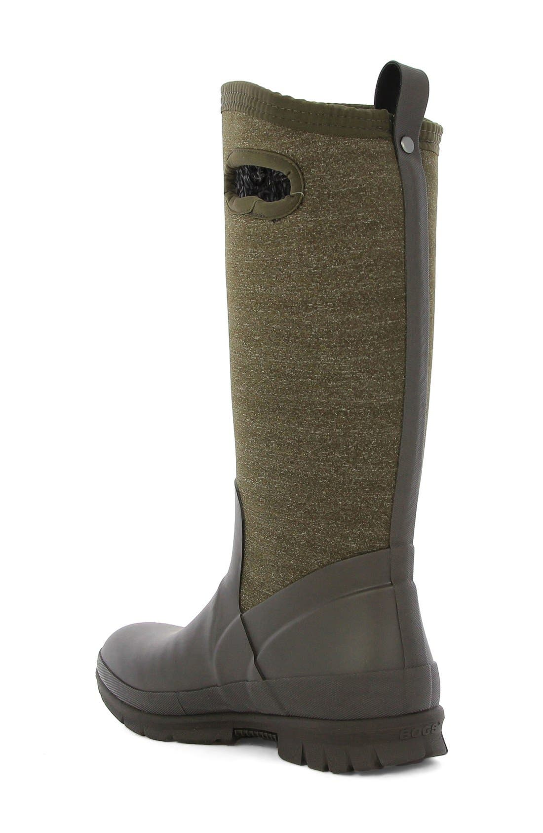 'Crandall' Waterproof Tall Boot,                             Alternate thumbnail 2, color,                             Chocolate Multi