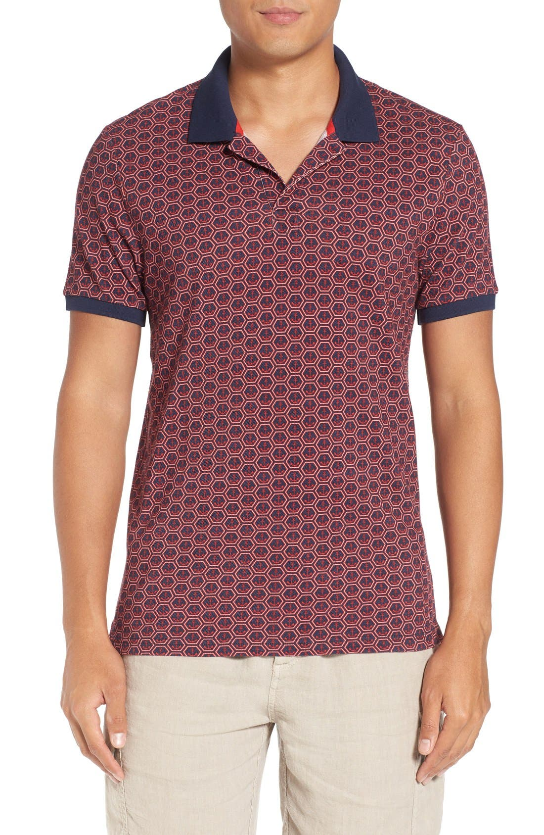 Vilebrequin Anchor Piqué Cotton Polo