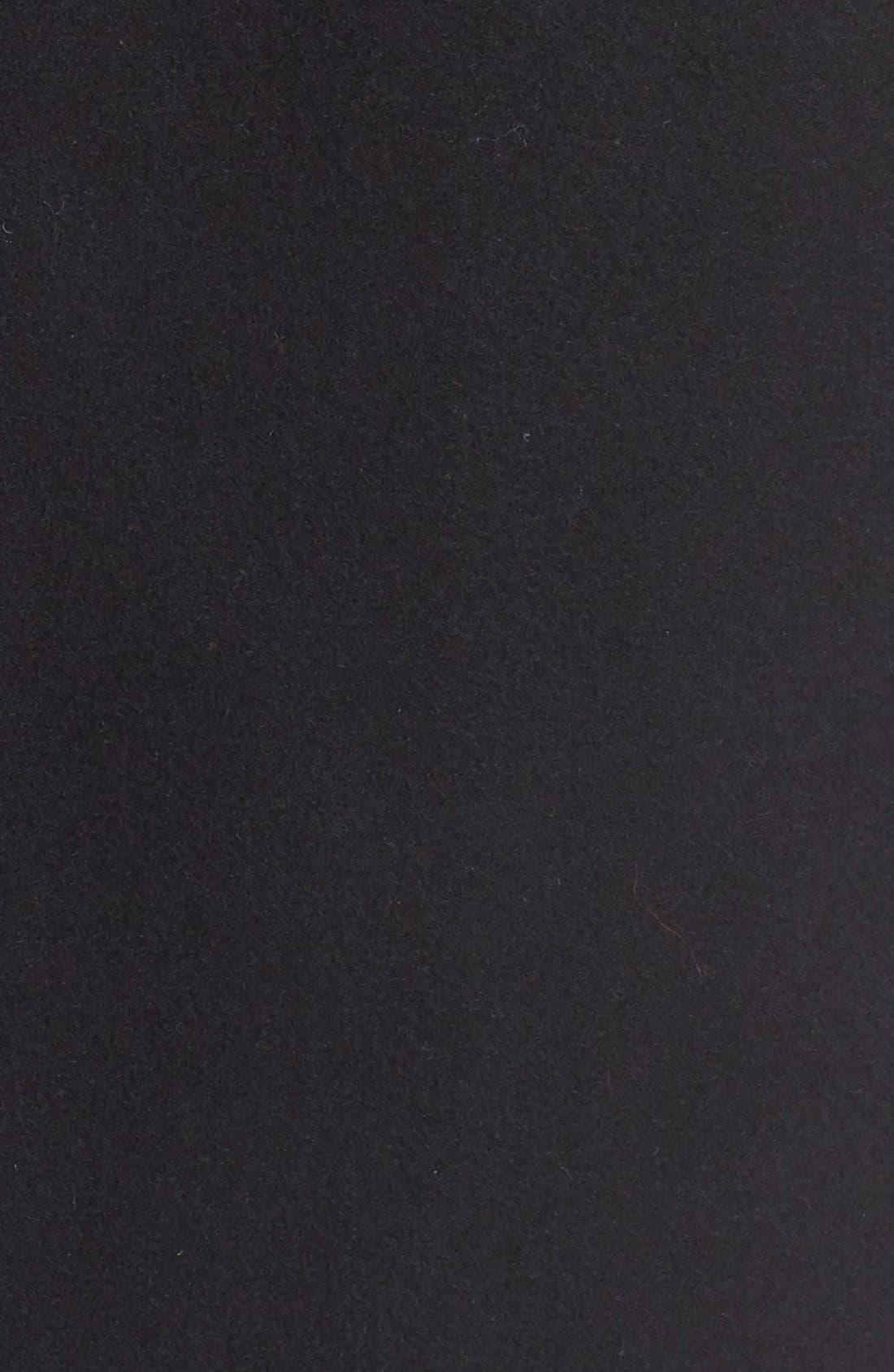 'Sedgwick' Detachable Faux Fur Collar Peacoat,                             Alternate thumbnail 6, color,                             Navy