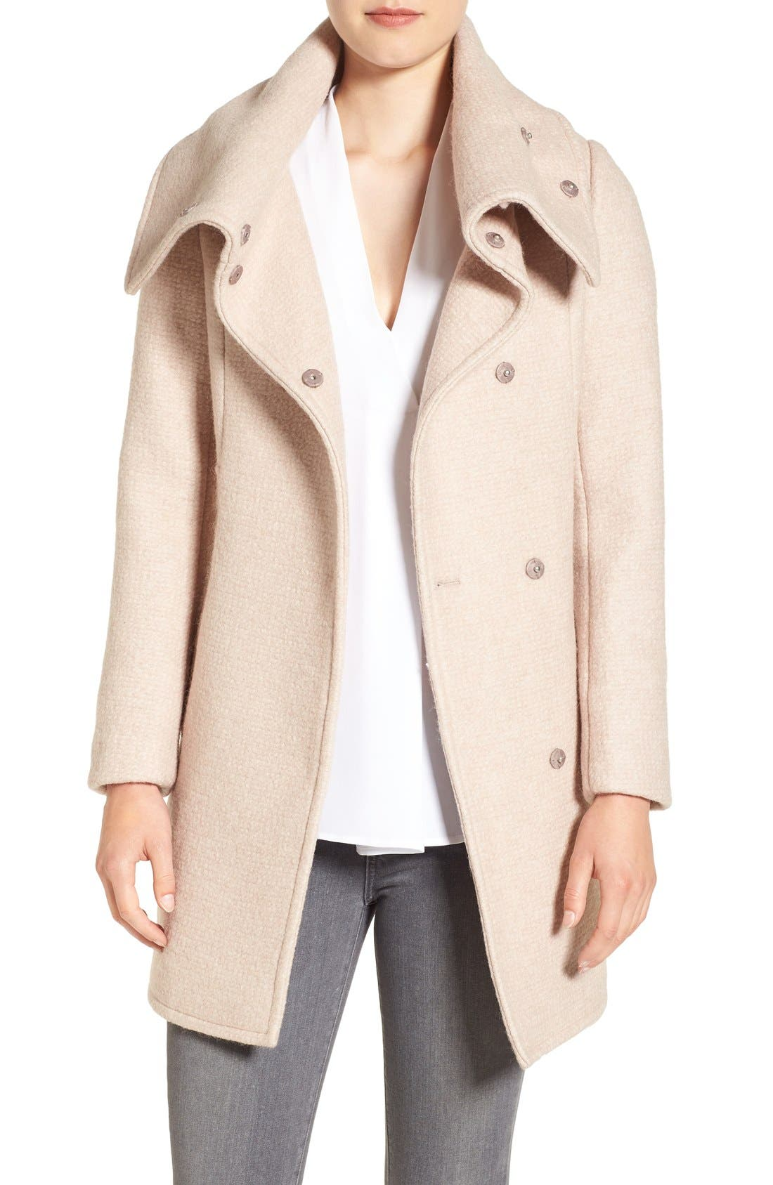 Alternate Image 1 Selected - Cole Haan Signature Oversize Collar Coat