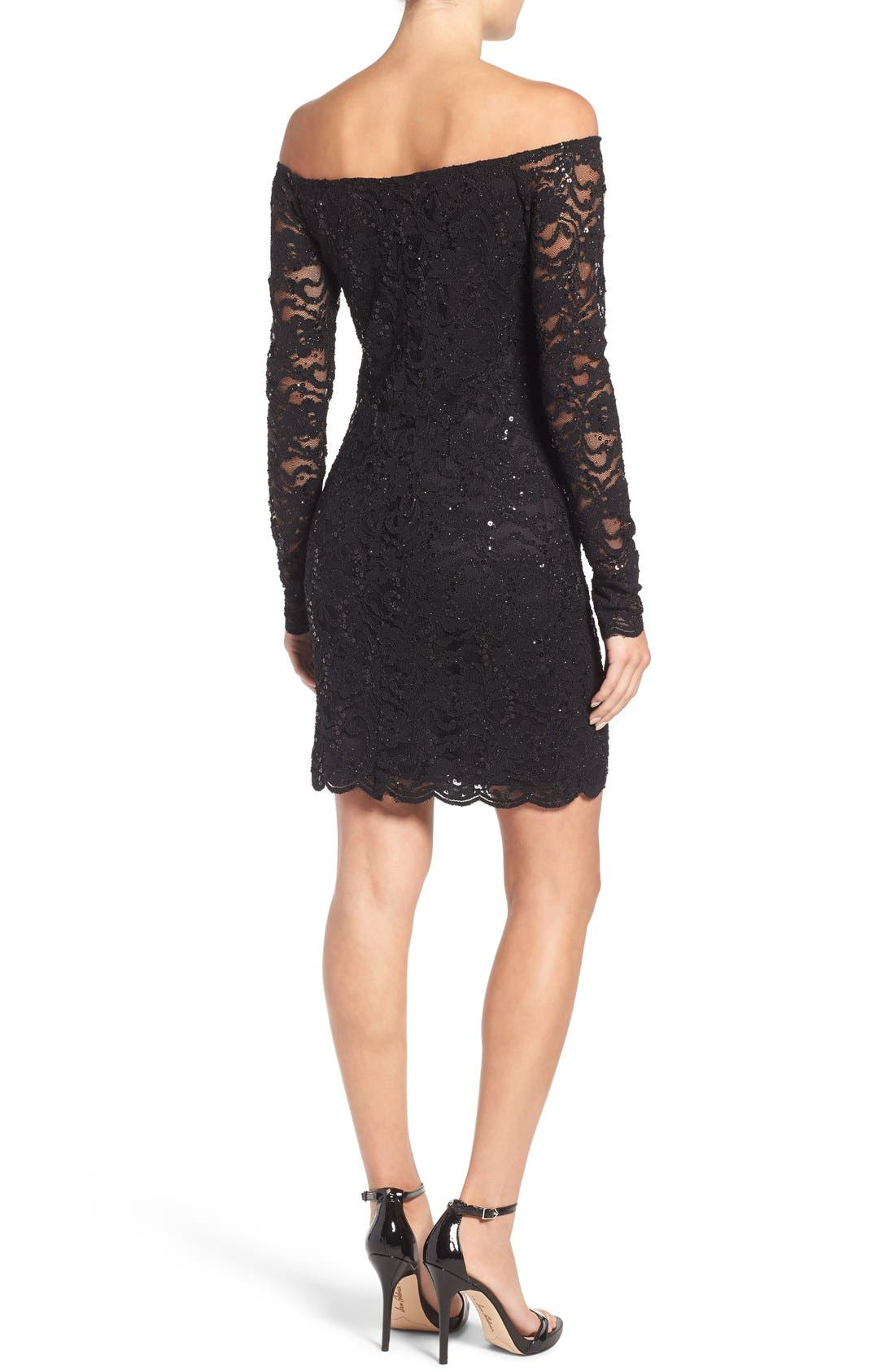 Alternate Image 2  - Jump Apparel Lace Off the Shoulder Body-Con Dress