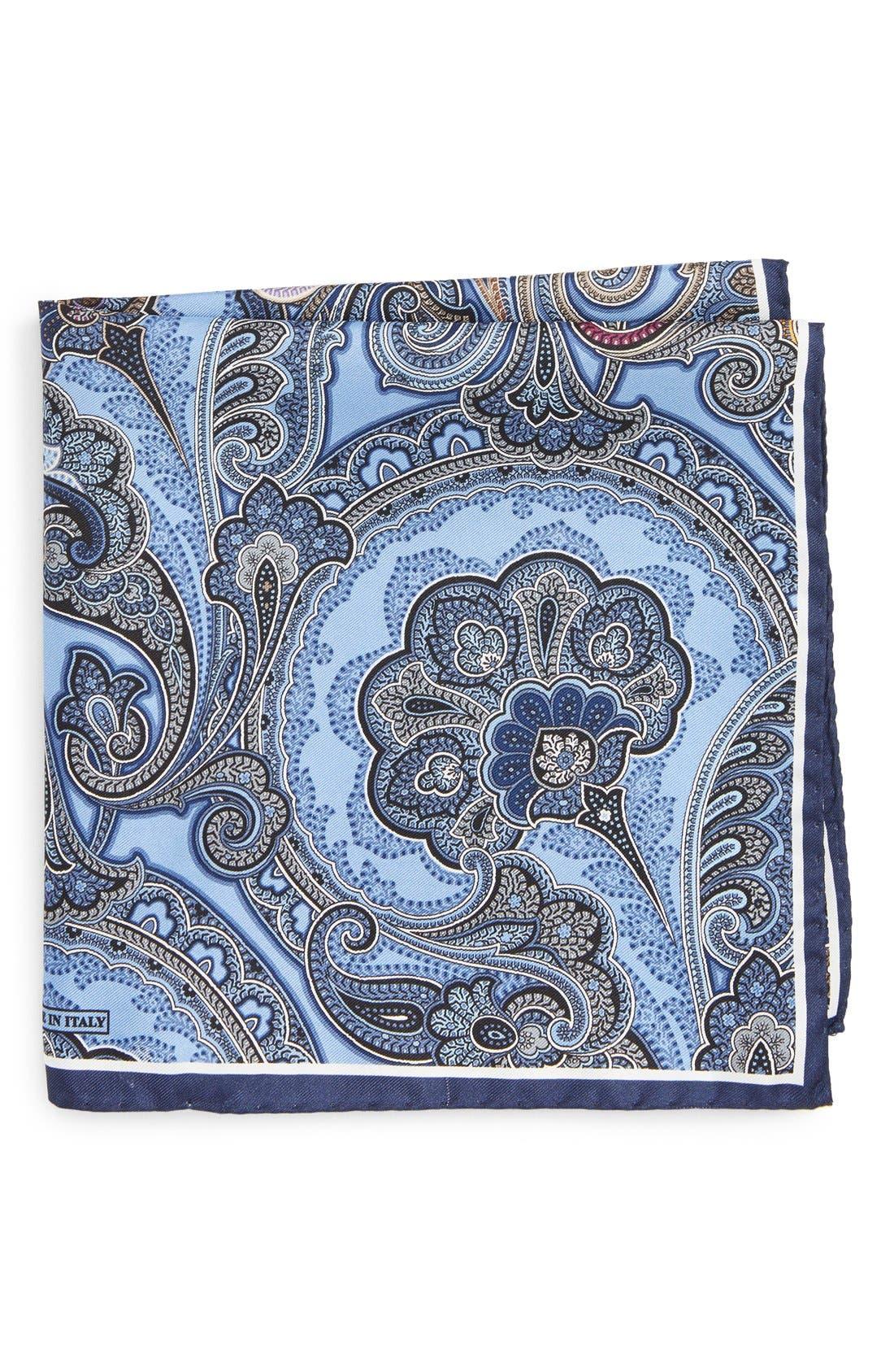 Alternate Image 1 Selected - Nordstrom Men's Shop Paisley Silk Pocket Square
