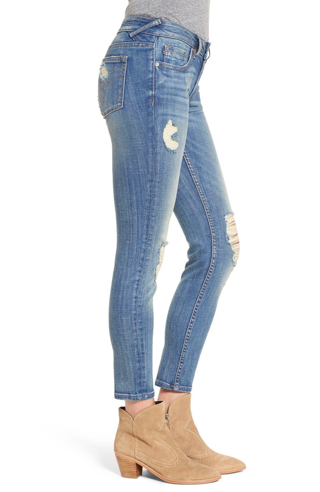 Alternate Image 3  - Vigoss 'Chelsea' Destroyed Ankle Skinny Jeans