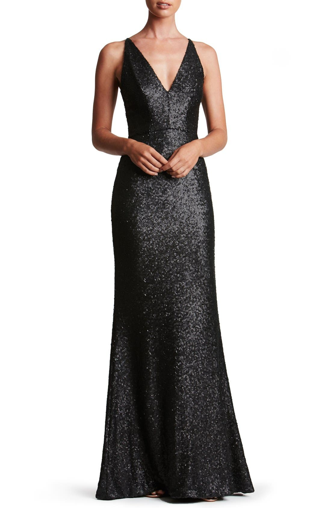 Dress the Population Harper Mermaid Gown