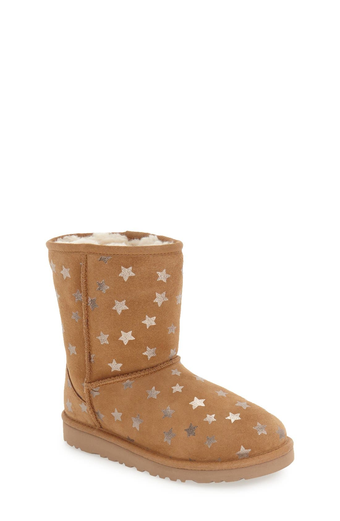 Alternate Image 1 Selected - UGG® Classic Stars Boot (Little Kid & Big Kid) (Nordstrom Exclusive)