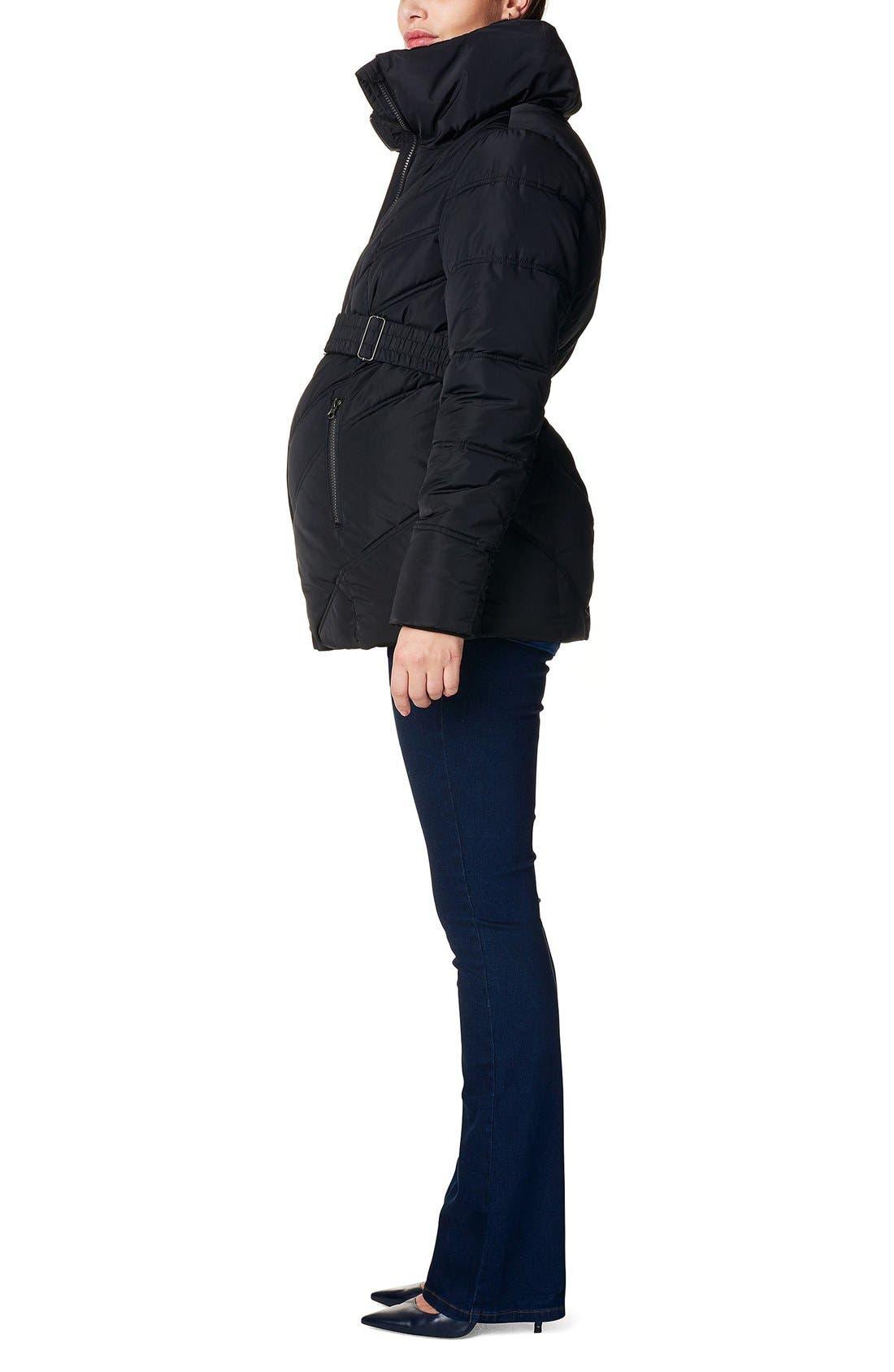 Alternate Image 3  - Noppies 'Lene' Quilted Maternity Jacket