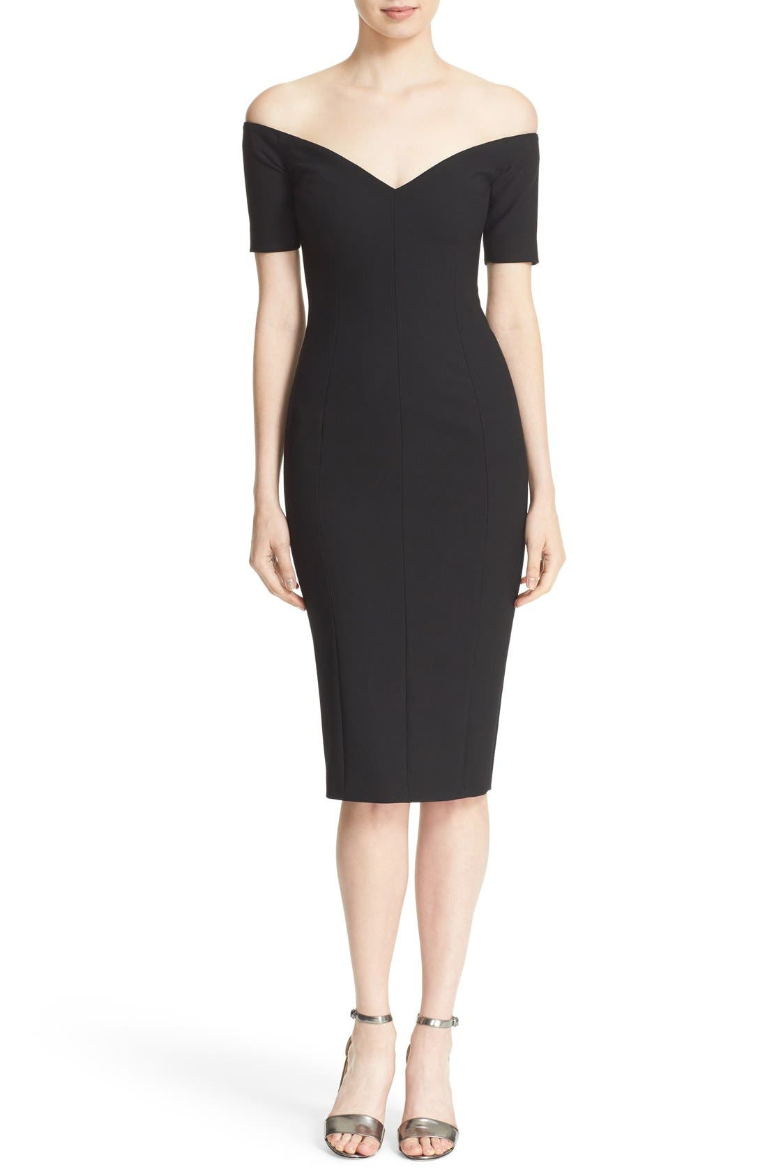 Main Image - Cinq à Sept 'Jolie' Off the Shoulder Sheath Dress