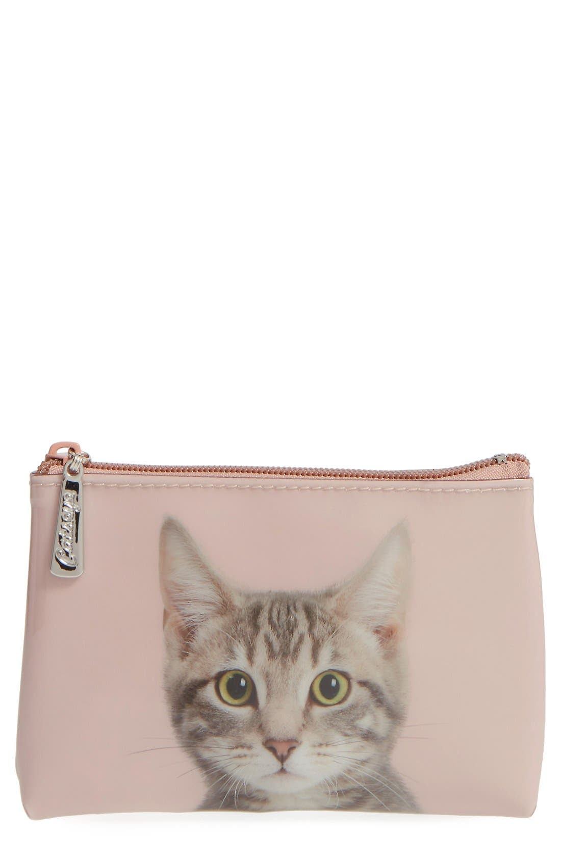 Main Image - Catseye London Small Kitty Zip Pouch