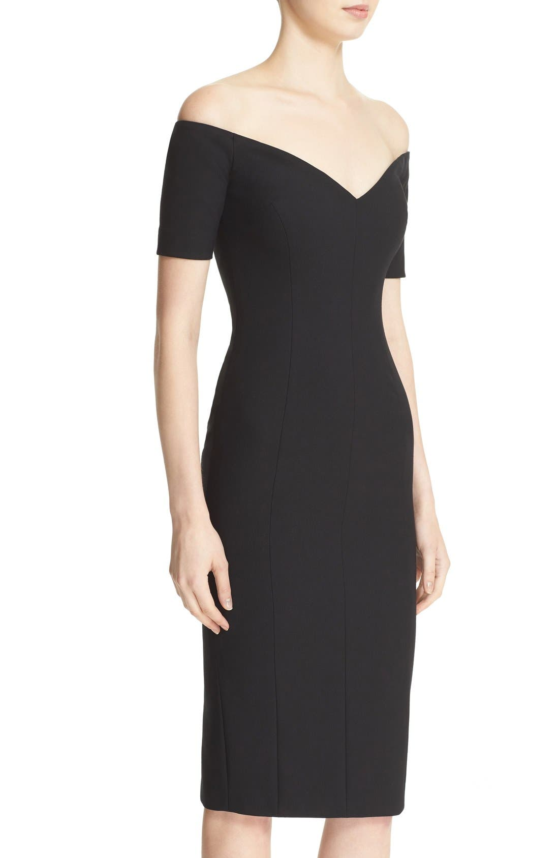 Alternate Image 3  - Cinq à Sept 'Jolie' Off the Shoulder Sheath Dress