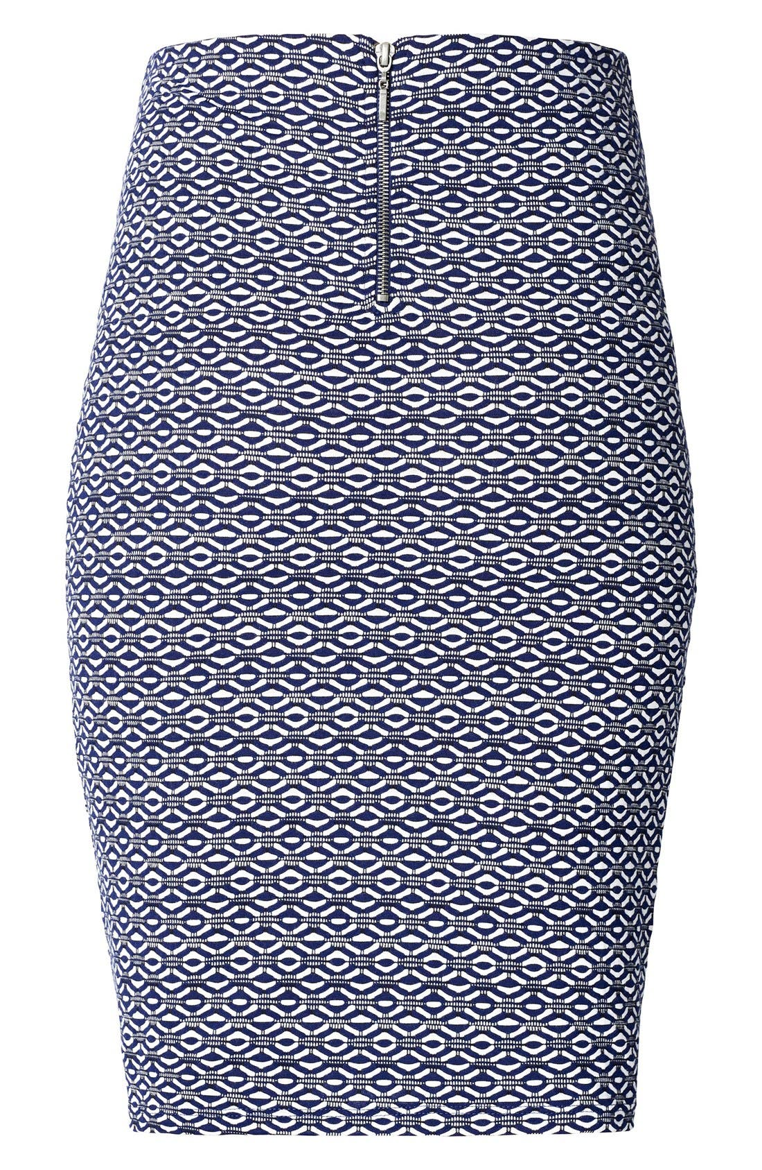 Rita Maternity Pencil Skirt,                             Alternate thumbnail 2, color,                             Medium Blue