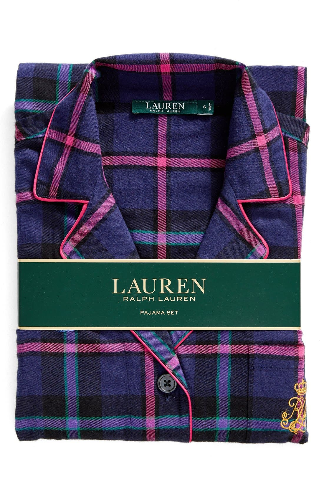 Alternate Image 2  - Lauren Ralph Lauren Twill Pajamas