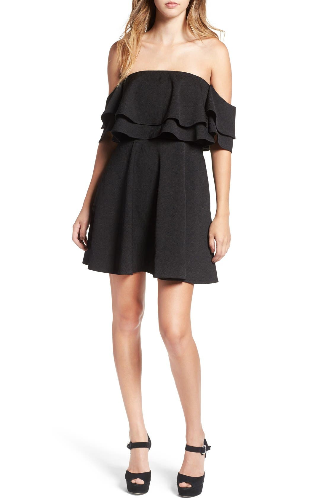 Alternate Image 1 Selected - Keepsake the Label 'Two Fold' Off the Shoulder Minidress