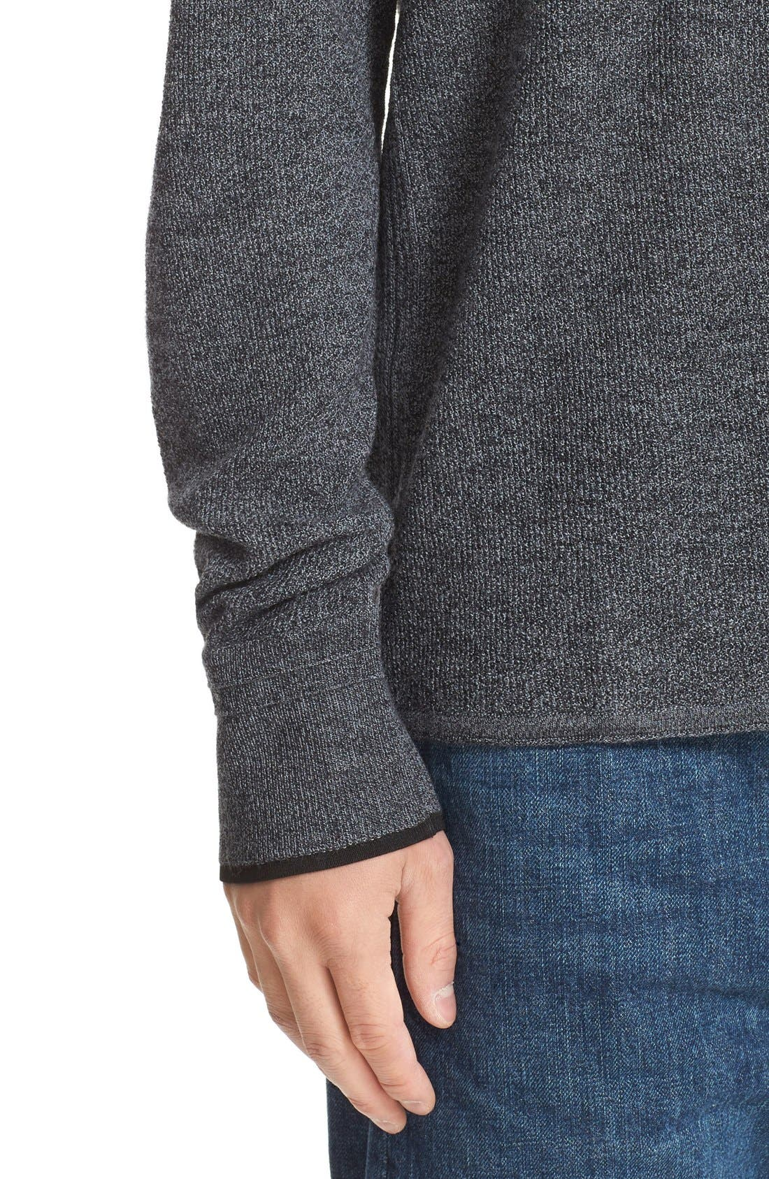 'Giles' Lightweight Merino Wool Pullover,                             Alternate thumbnail 4, color,                             Charcoal