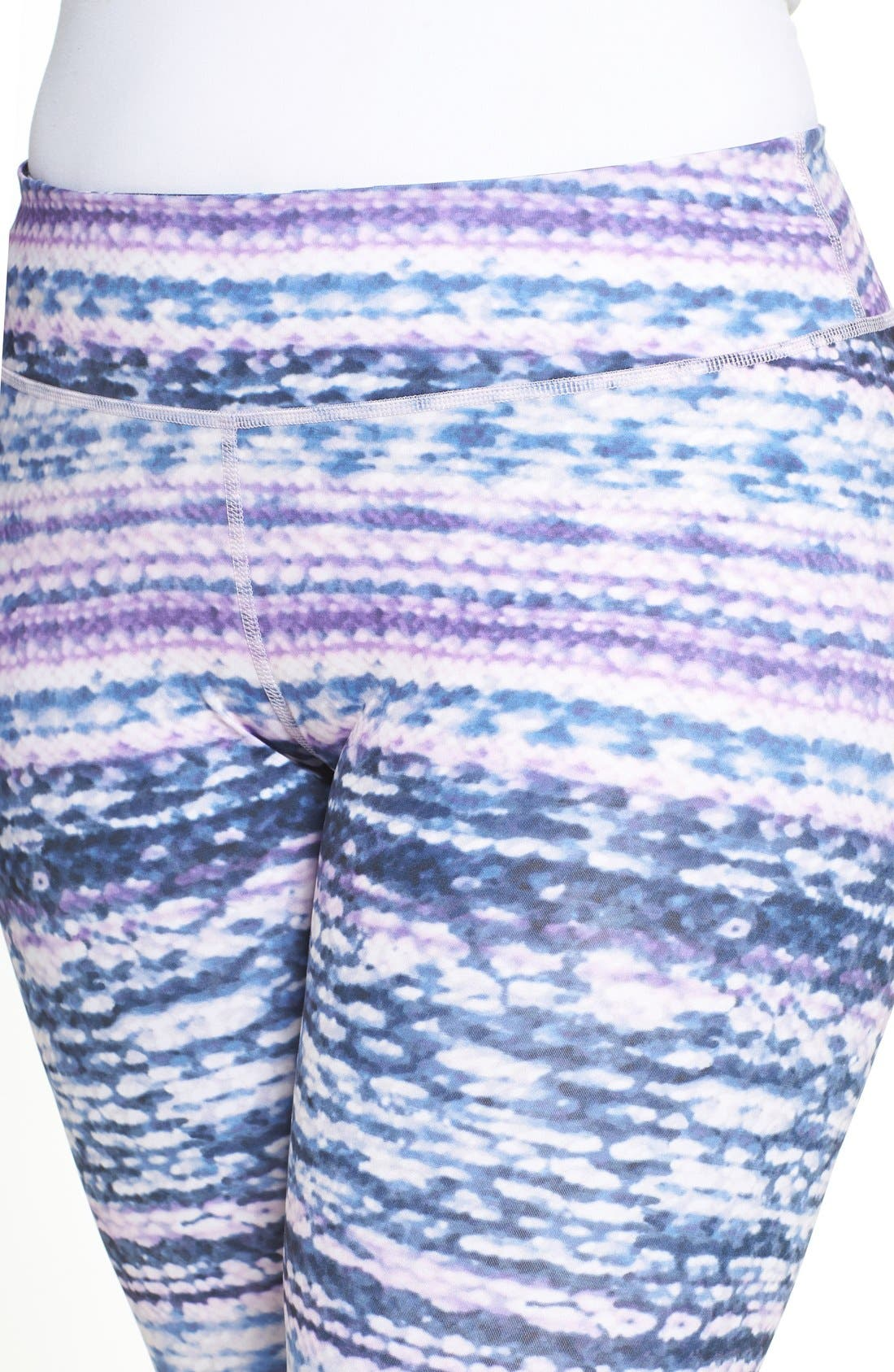 Alternate Image 4  - Zella Print Crop Leggings (Plus Size)