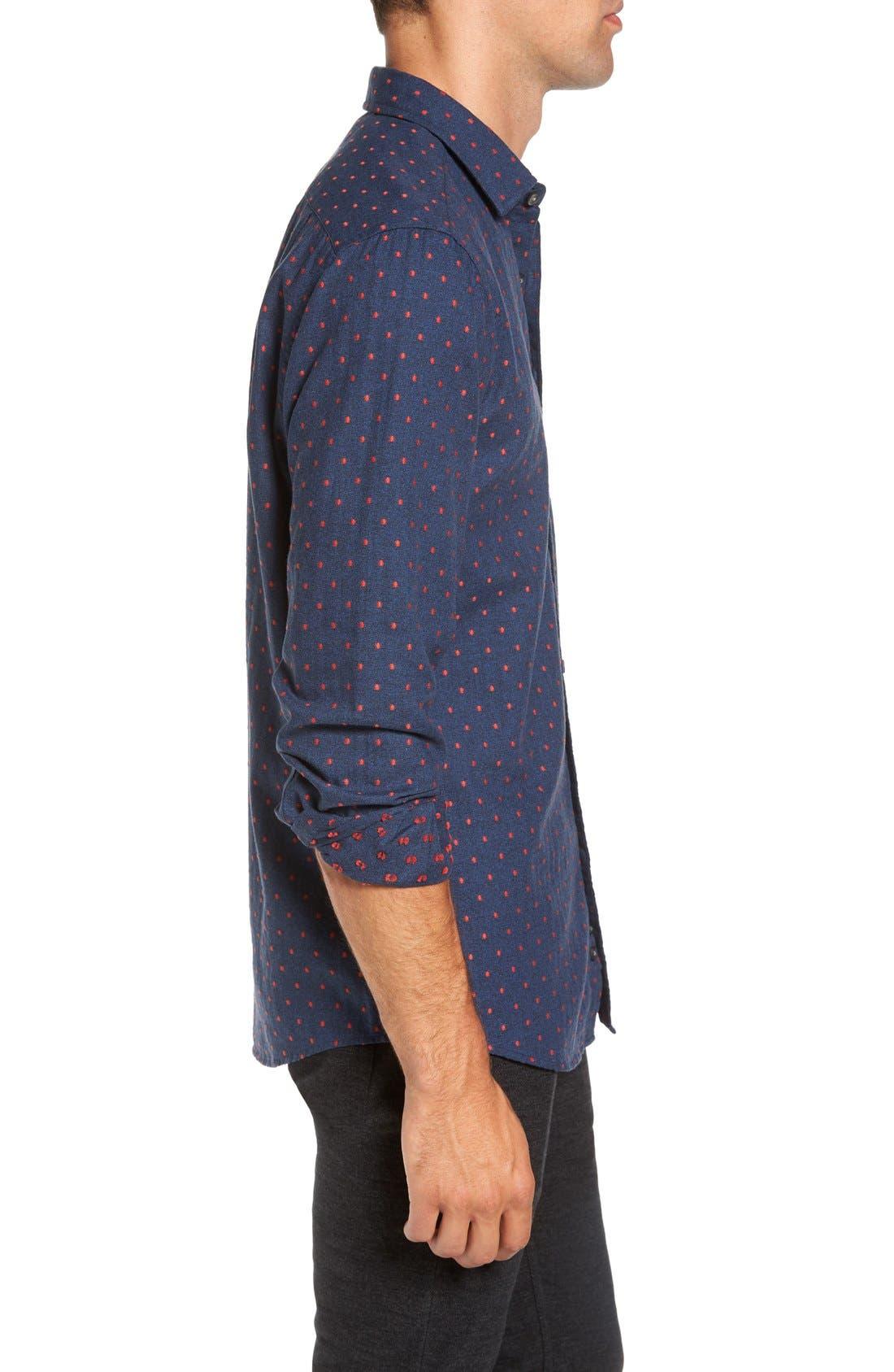 Alternate Image 3  - Rodd & Gunn Annaby Sports Fit Dot Sport Shirt