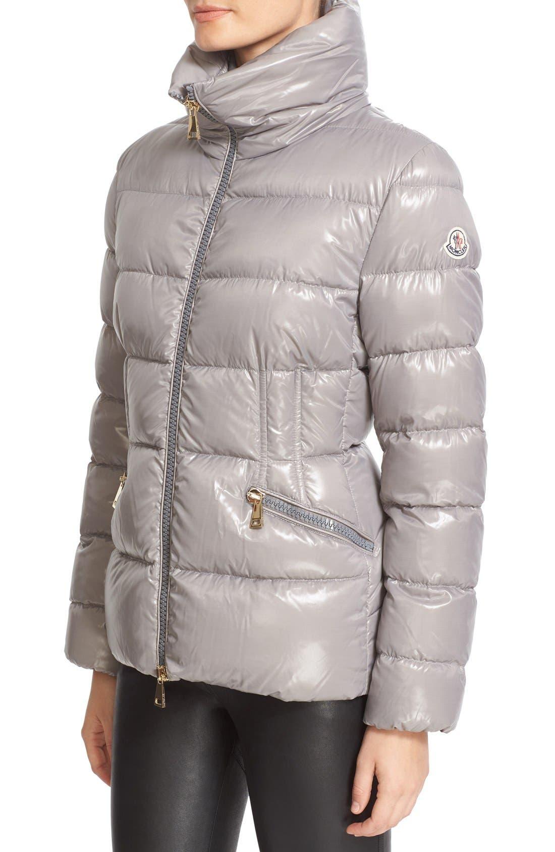 Alternate Image 6  - Moncler 'Daphne' Water Resistant Short Shiny Nylon Jacket
