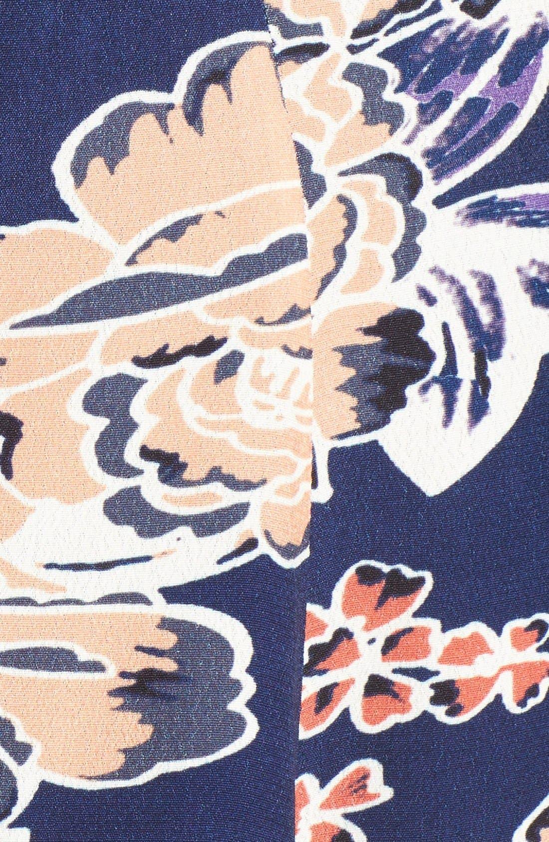 Alternate Image 6  - Lovers + Friends 'Vineyard' Floral Print Off the Shoulder Minidress