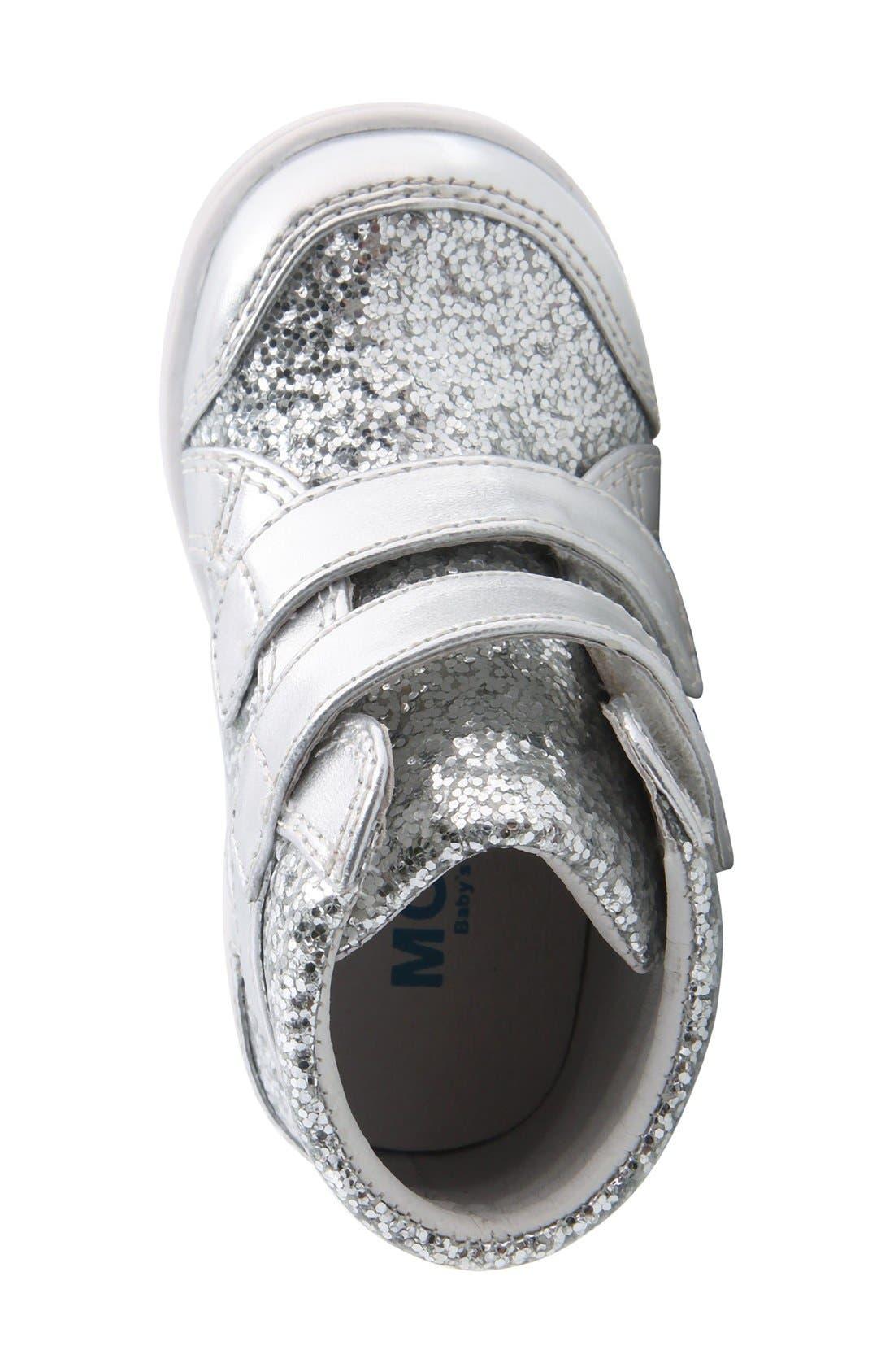 Nina 'Stardust' Metallic High Top Sneaker,                             Alternate thumbnail 2, color,                             Silver Metallic