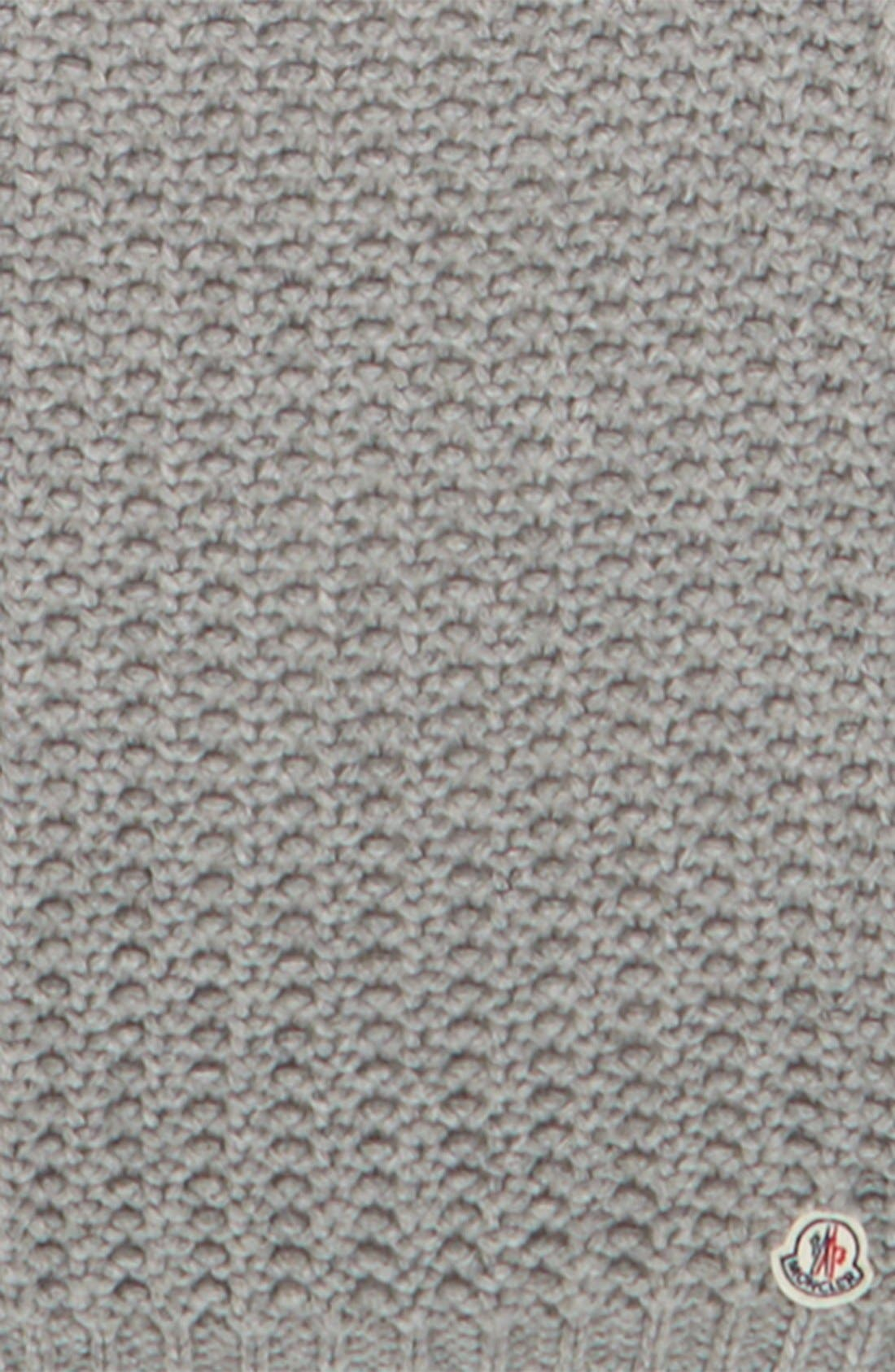Waffle Knit Scarf,                             Alternate thumbnail 2, color,                             Light Grey