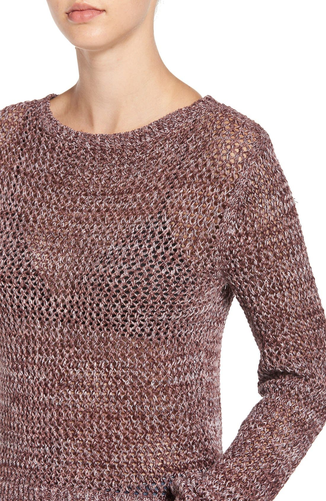 Alternate Image 4  - Joe's 'Reed' Crochet Cotton Sweater