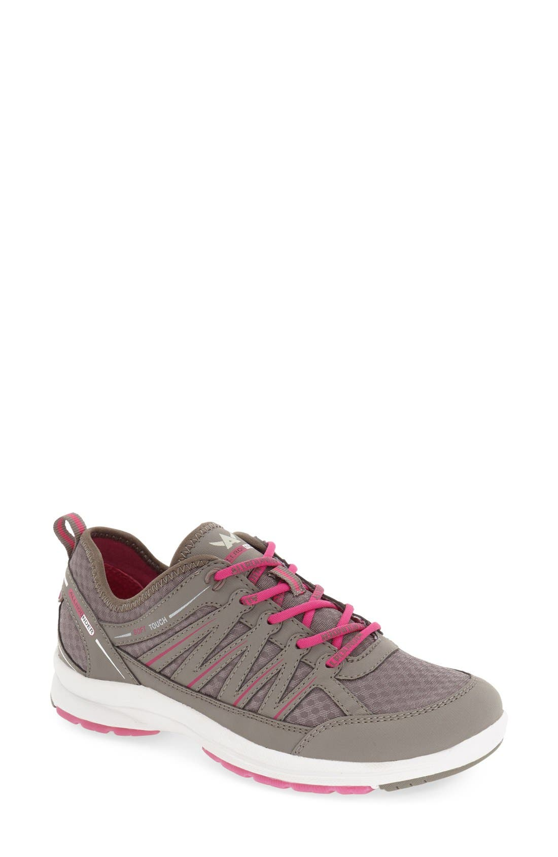 'Darina' Sneaker,                         Main,                         color, Grigio Nubuck Leather