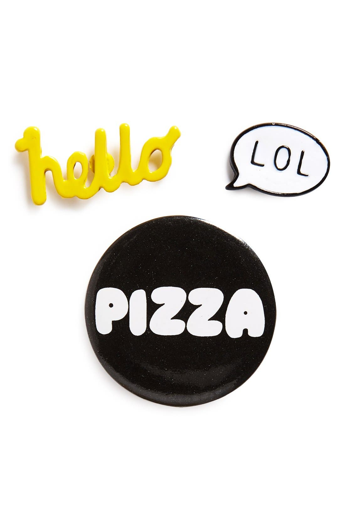 Alternate Image 1 Selected - BP. 'Hello, Lol, Pizza' Pins (Set of 3)