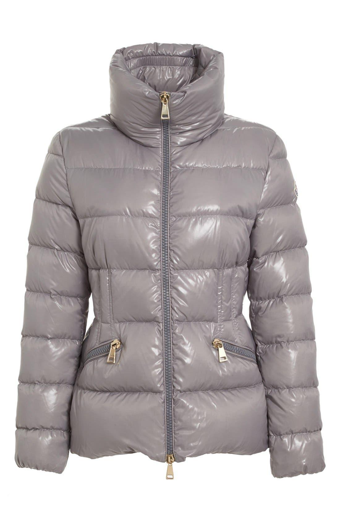 Alternate Image 4  - Moncler 'Daphne' Water Resistant Short Shiny Nylon Jacket