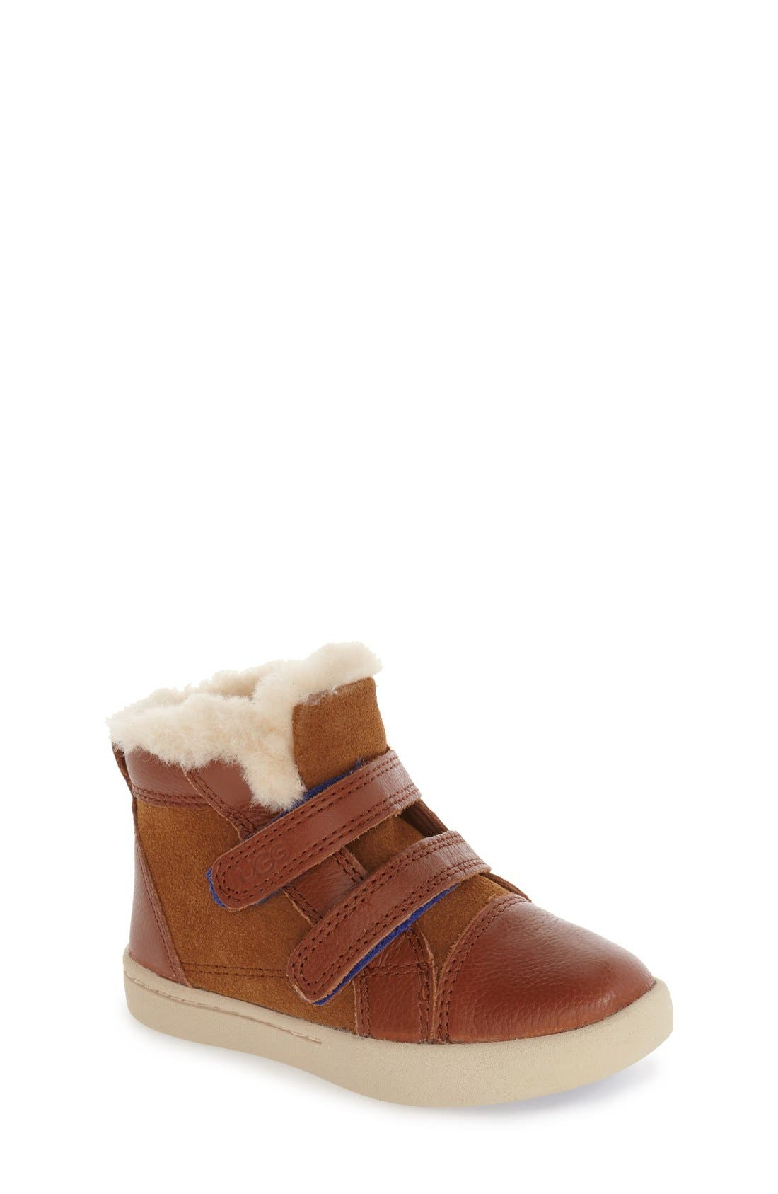 Alternate Image 1 Selected - UGG® Rennon High Top Sneaker (Walker & Toddler)