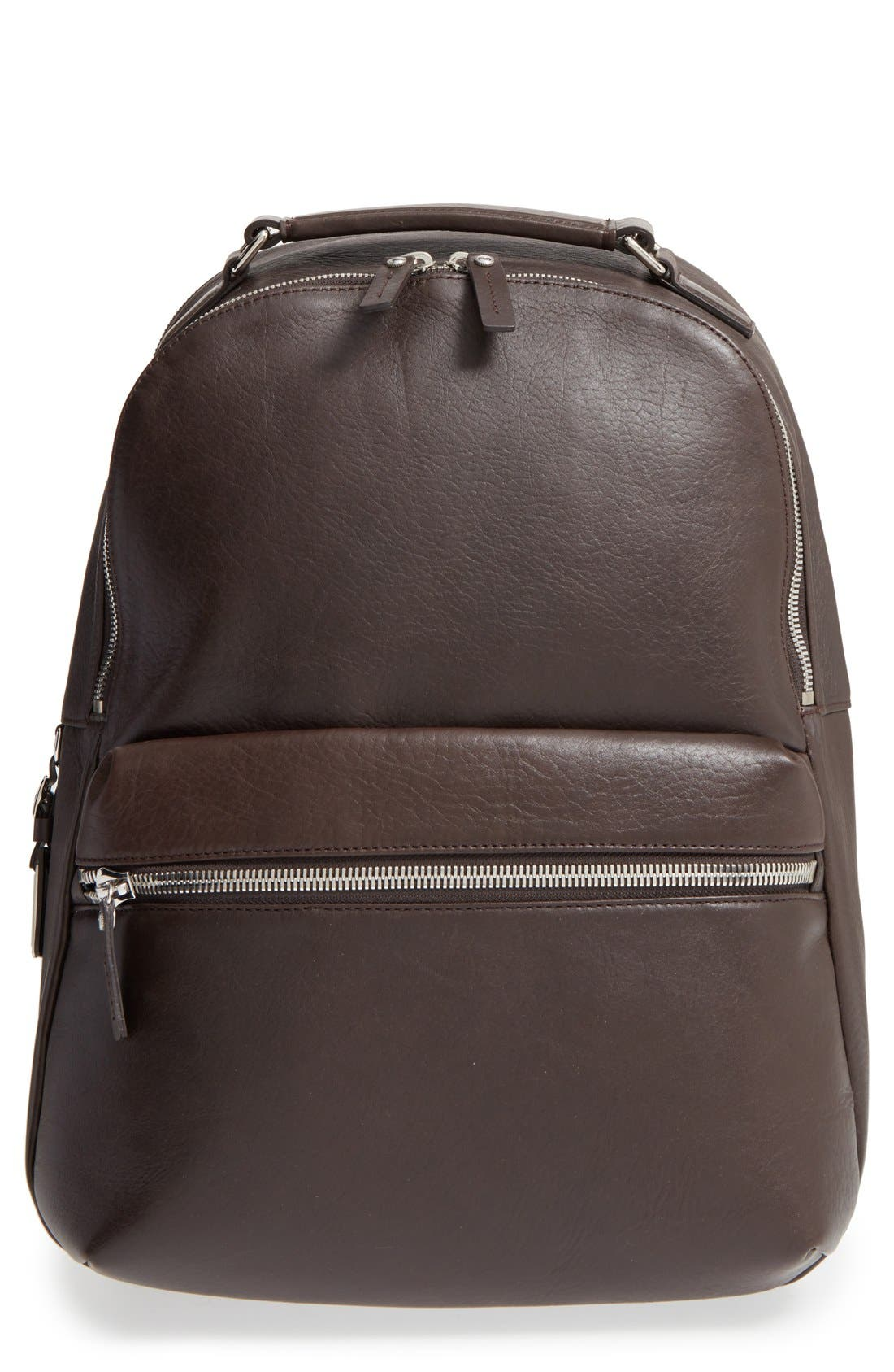 Main Image - Shinola Runwell Leather Laptop Backpack
