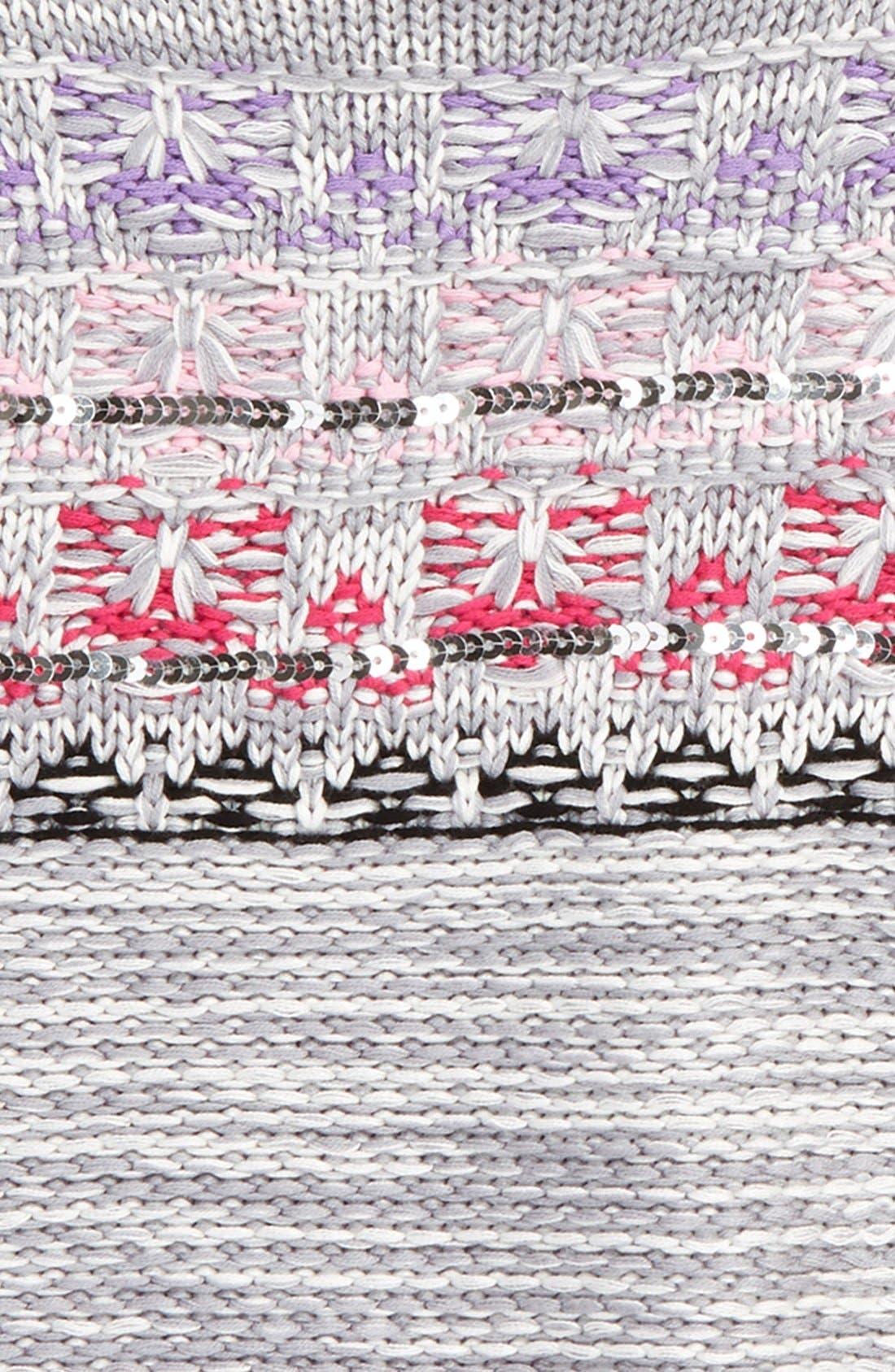 Alternate Image 2  - Design History Embellished Knit Sweater (Toddler Girls & Little Girls)