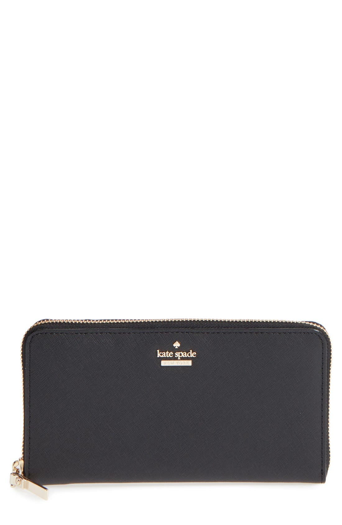 'cameron street - lacey' leather wallet,                         Main,                         color, Black