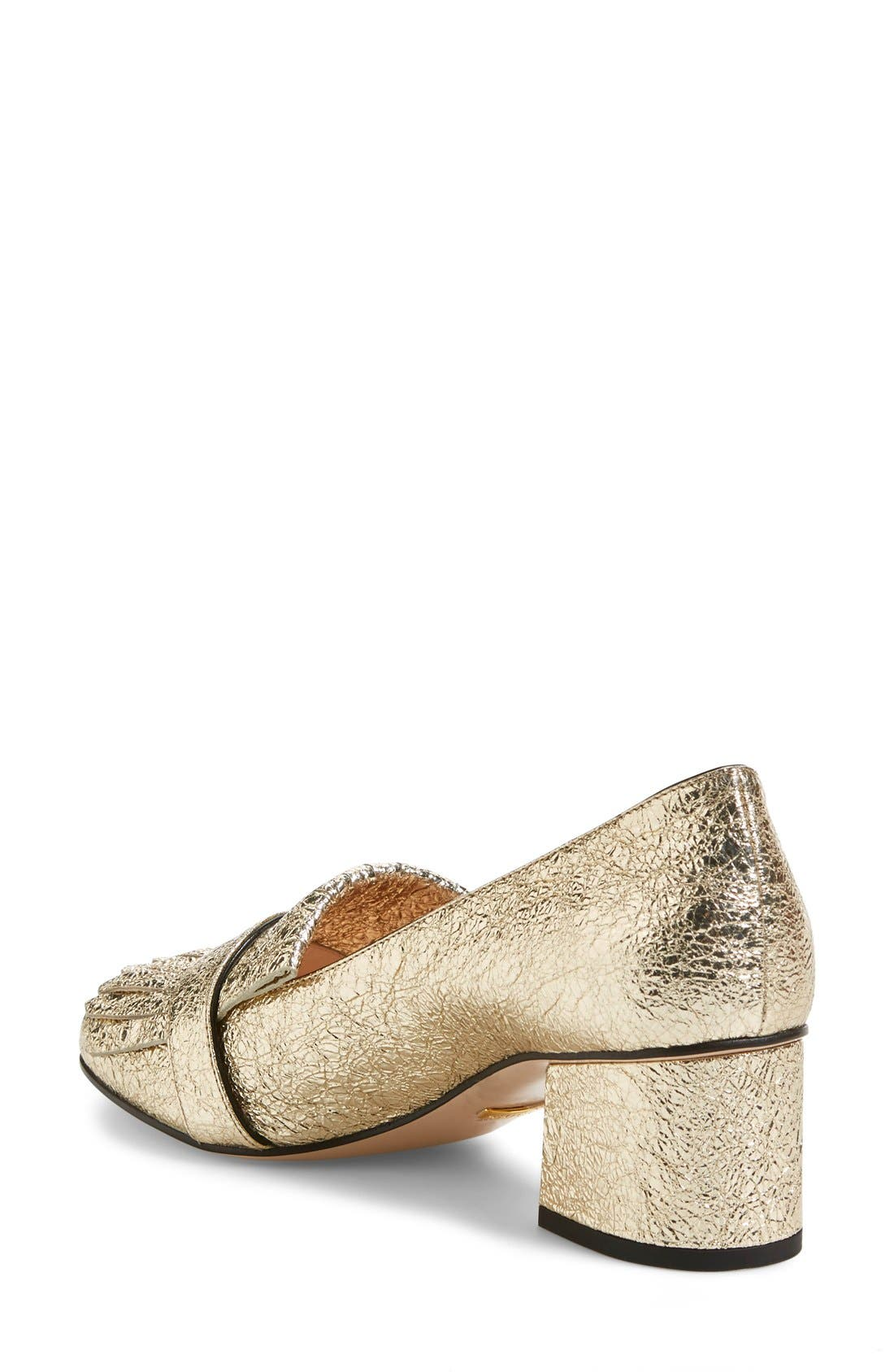 GG Pump,                             Alternate thumbnail 3, color,                             Gold Leather