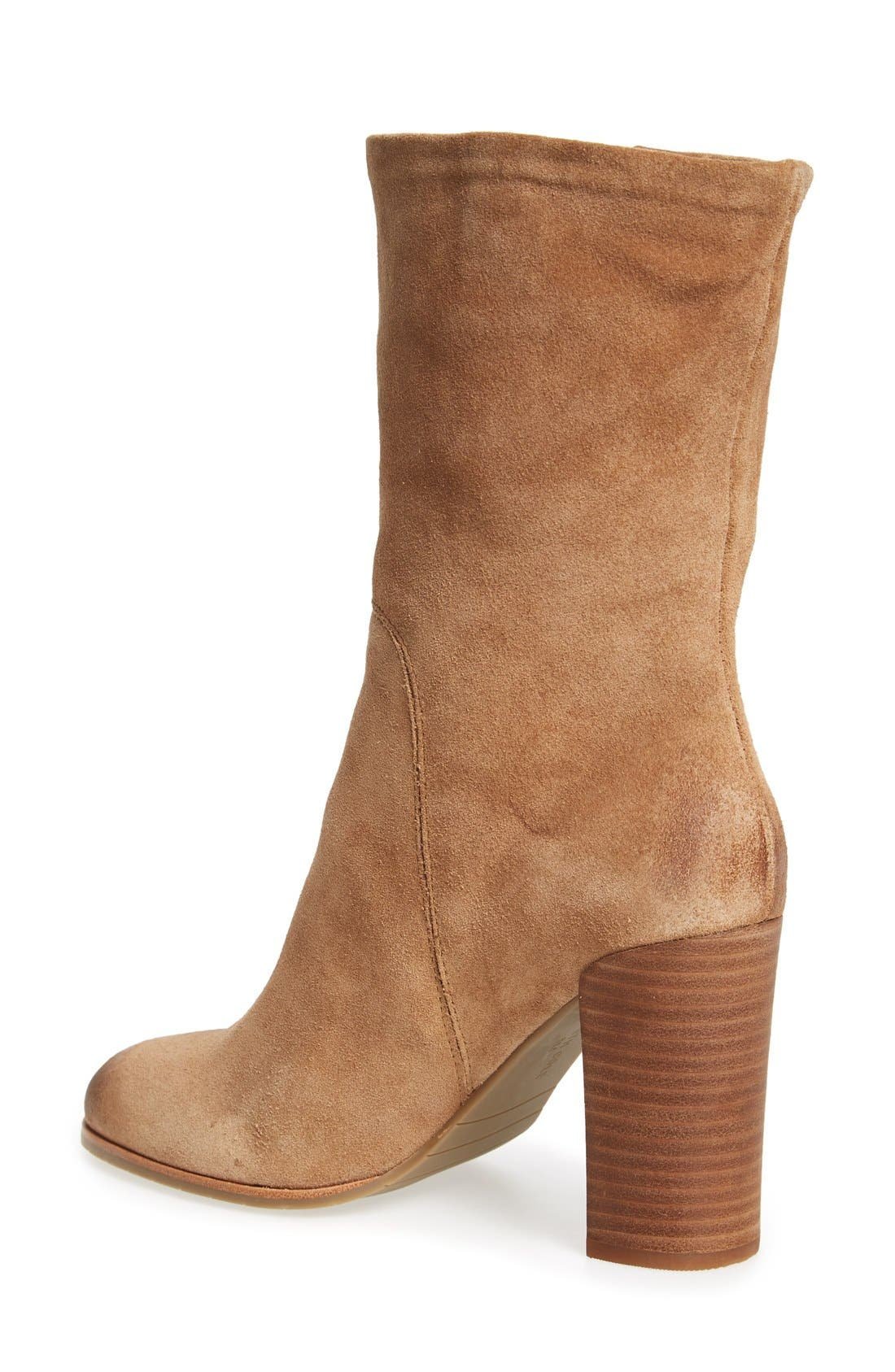 'Jenni' Round Toe Boot,                             Alternate thumbnail 2, color,                             Desert Suede