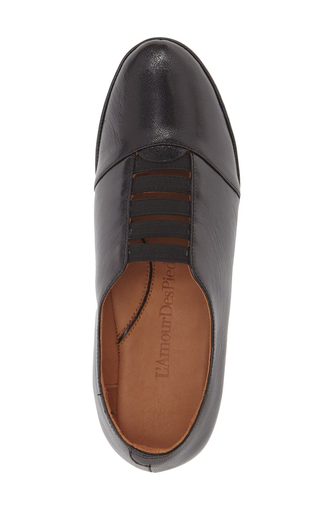 'Beziers' Slip-On,                             Alternate thumbnail 3, color,                             Black Leather