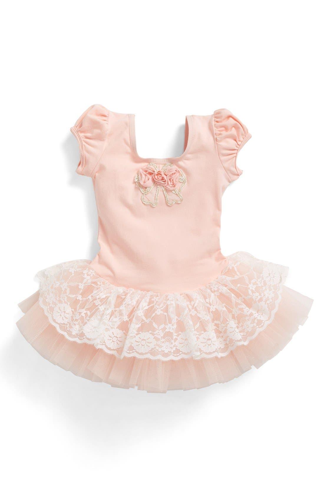Main Image - Popatu Floral Lace Tutu Dress (Baby Girls)