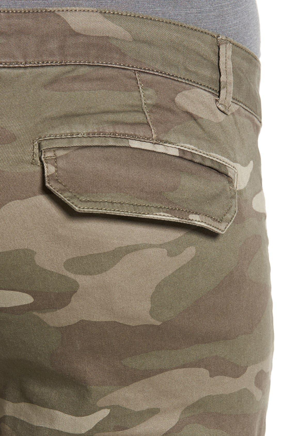 Skinny Cargo Pants,                             Alternate thumbnail 3, color,                             Mushroom