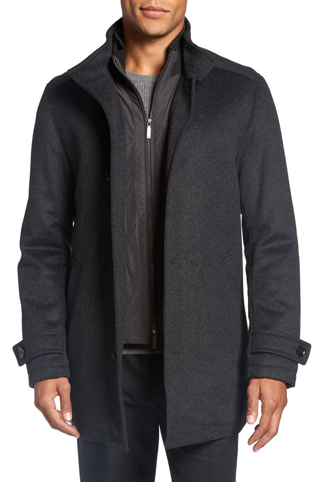 Main Image - BOSS 'Camlow' Wool & Cashmere Car Coat
