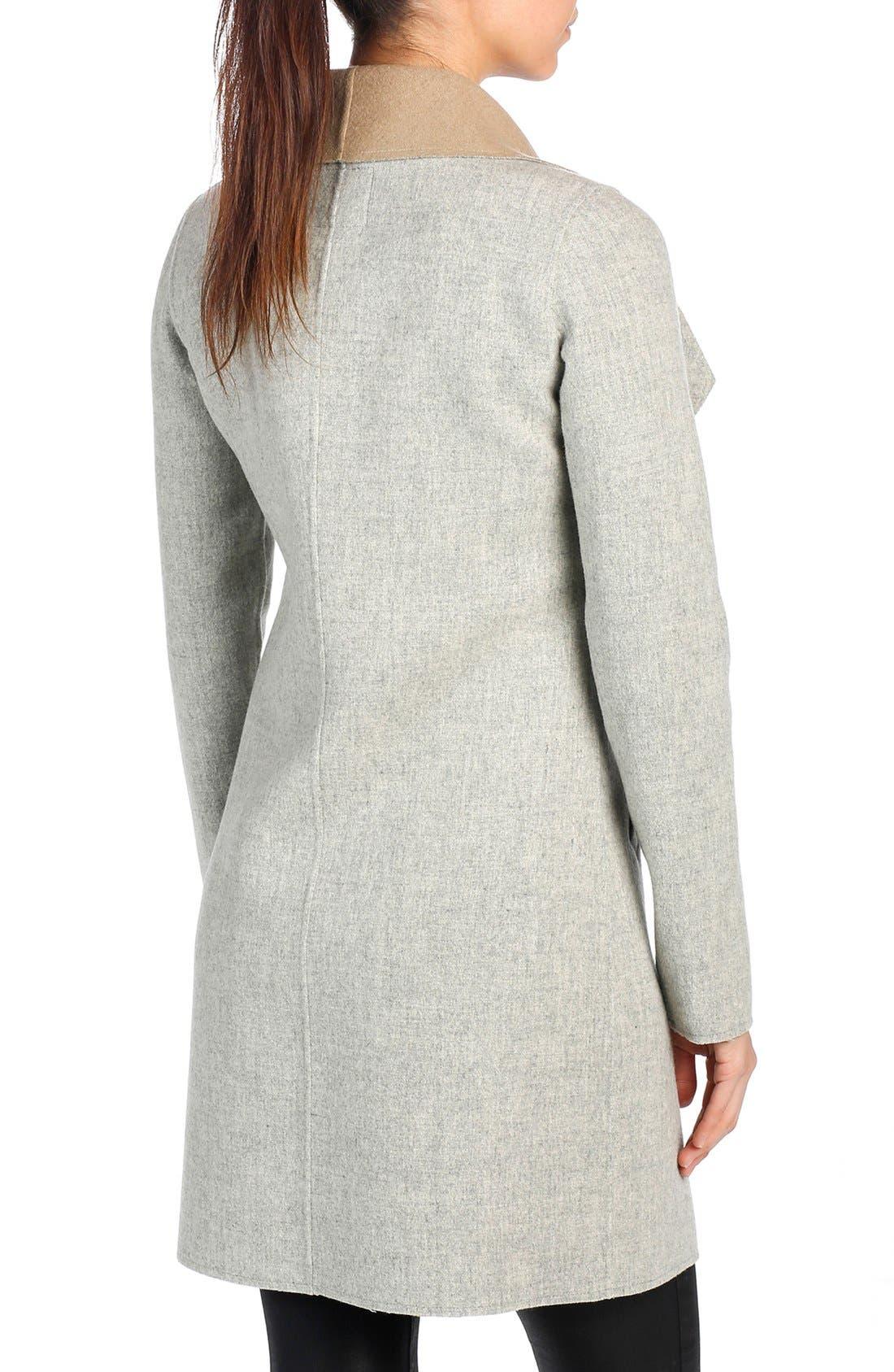 Alternate Image 2  - PAIGE 'Lily' Drape Collar Wool Blend Coat