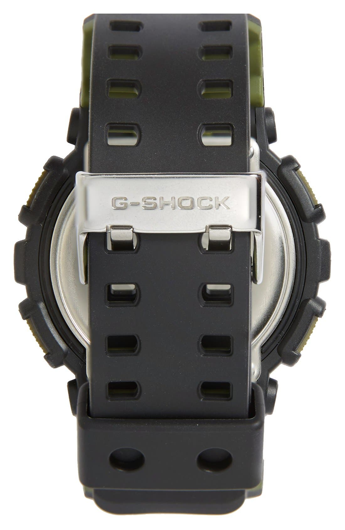 G-Shock 'Big Combi' Watch, 55mm x 51mm,                             Alternate thumbnail 2, color,                             Black/ Green