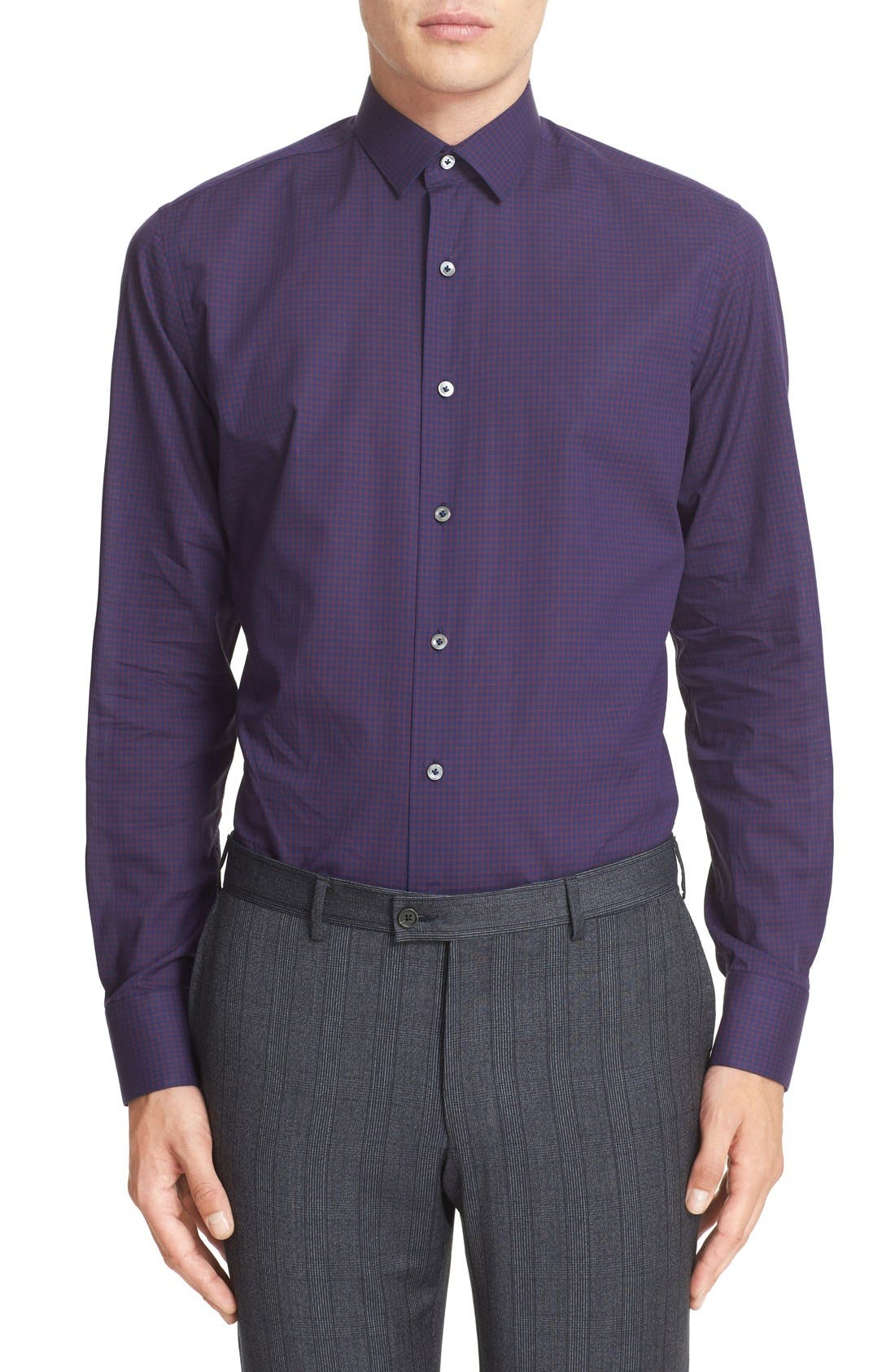 Alternate Image 2  - Lanvin Trim Fit Check Dress Shirt