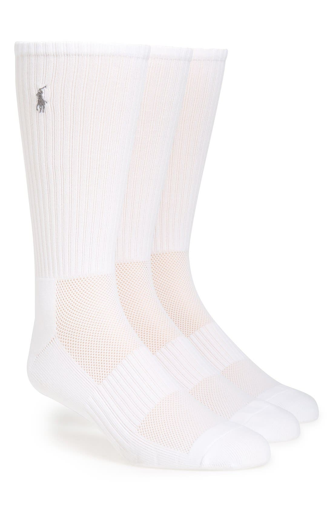 Polo Ralph Lauren Tech Athletic Crew Socks (Assorted 3-Pack)