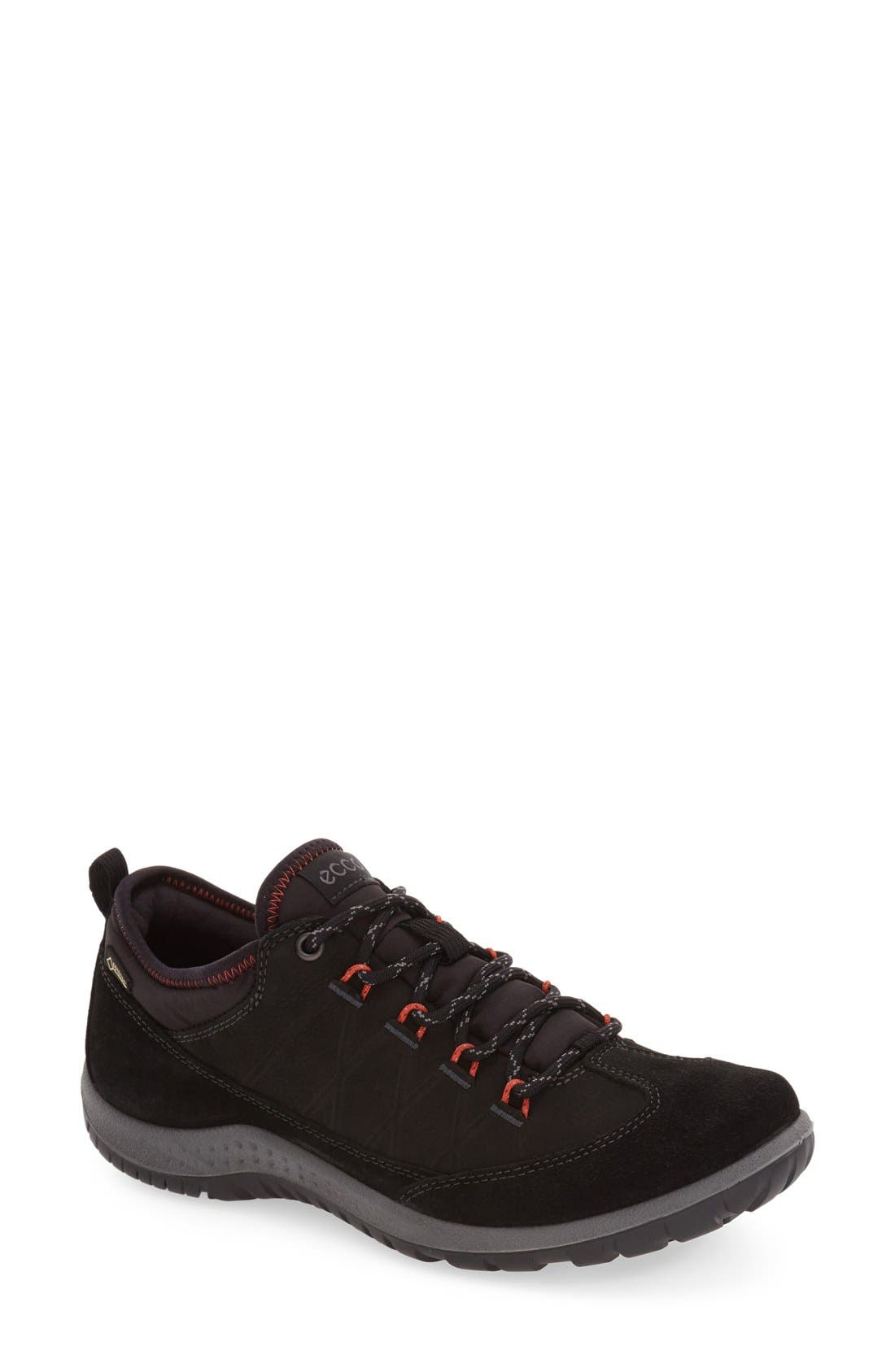'Aspina GTX' Waterproof Sneaker,                         Main,                         color, Black Oiled Suede