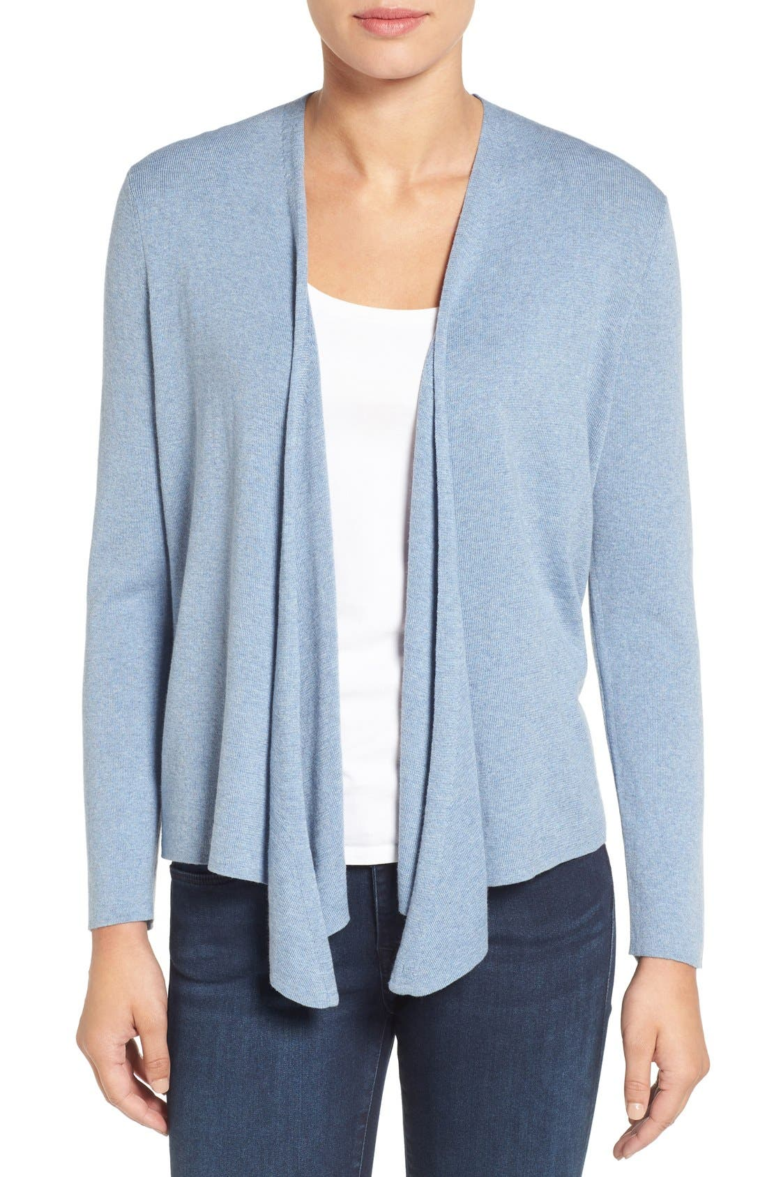 Alternate Image 1 Selected - NIC+ZOE Four-Way Convertible Cardigan (Regular & Petite)