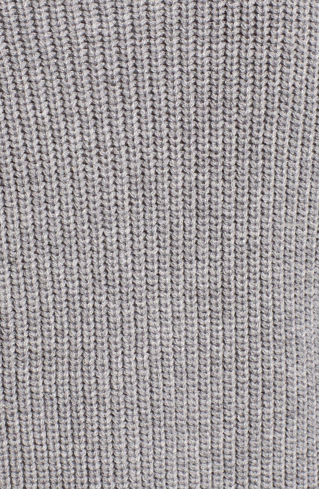 Alternate Image 5  - Elodie Rib Knit Lace-Up Sweater