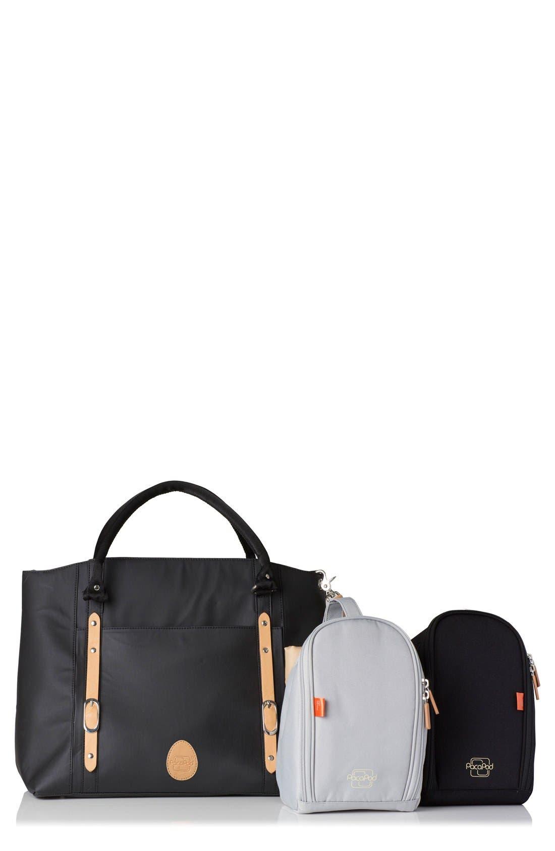 'Mirano' Diaper Bag,                             Alternate thumbnail 7, color,                             Black