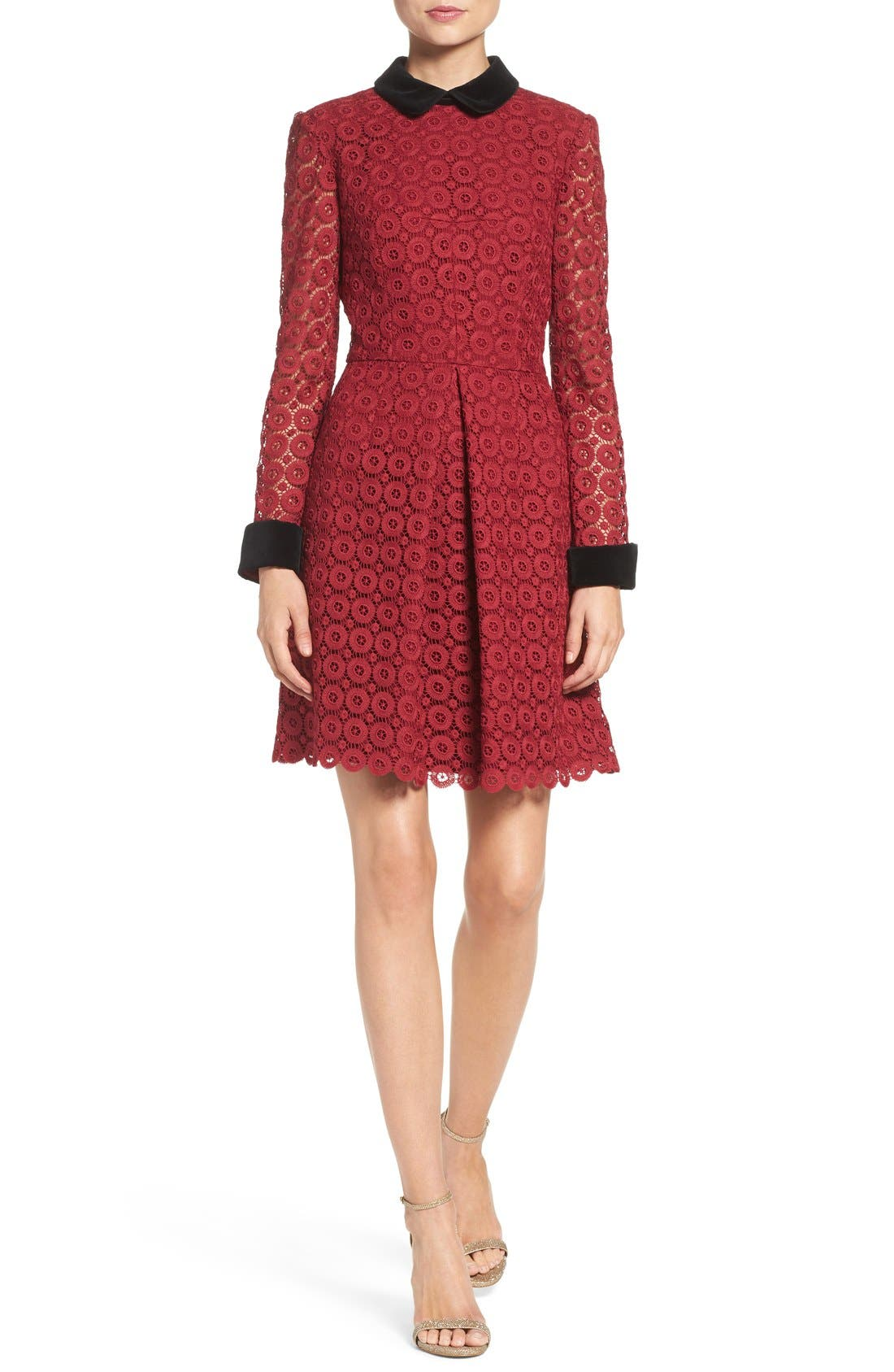 Alternate Image 4  - Jill Jill Stuart Velvet & Lace Shirtdress